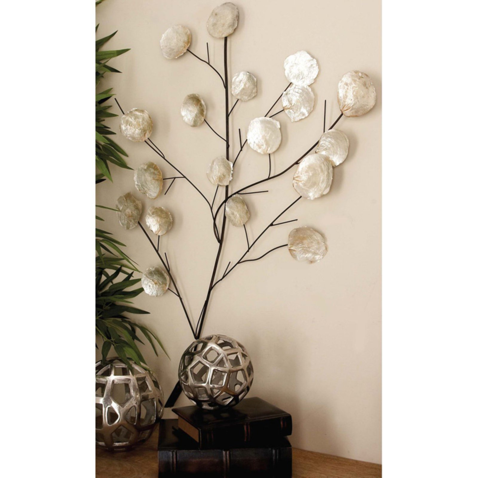 Decmode Wire Branch Wall Sculpture | Products In 2019 With Desford Leaf Wall Decor By Charlton Home (View 23 of 30)