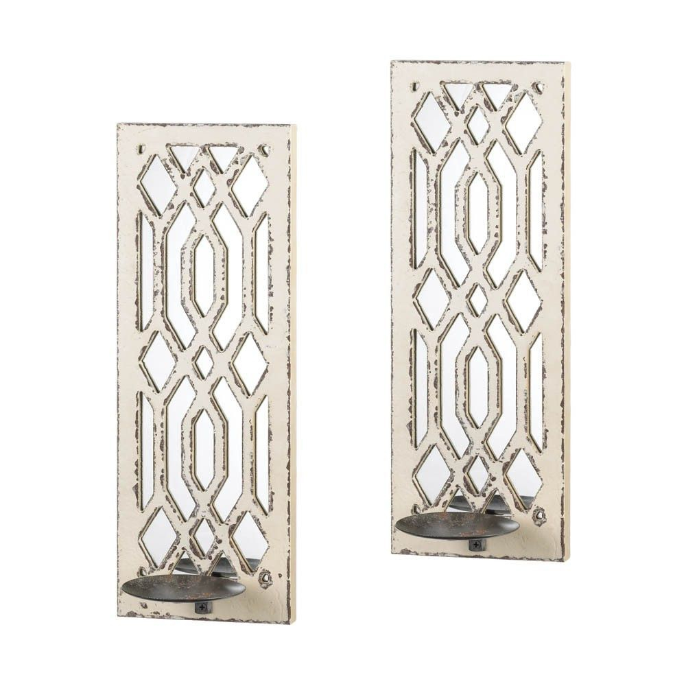 Deco Mirror Wall Sconce Set | Master Bathroom In 2019 Intended For 1 Piece Ortie Panel Wall Decor (Photo 13 of 30)