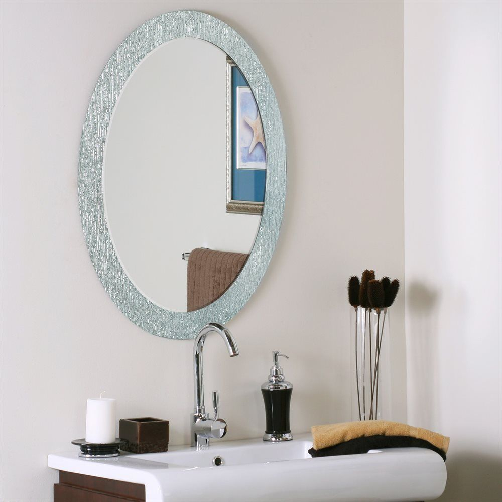 Decor Wonderland Ssm5005 4 Molten Oval Bathroom Mirror | Atg Pertaining To Point Reyes Molten Round Wall Mirrors (Photo 20 of 30)