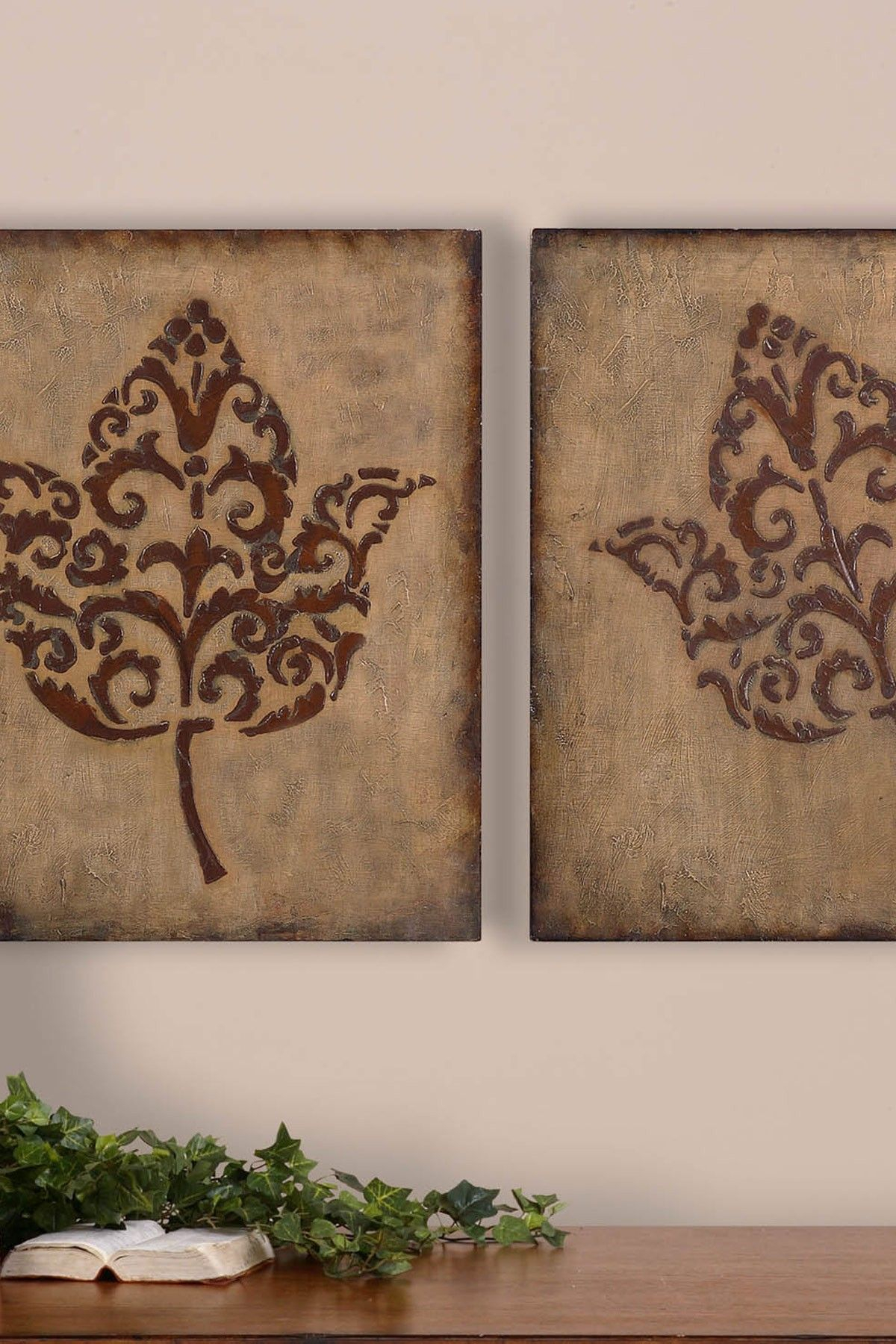 Decorative Leaf Wall Panels | Craft & Diy | Decorative With Regard To Panel Wood Wall Decor Sets (Set Of 2) (Gallery 14 of 30)