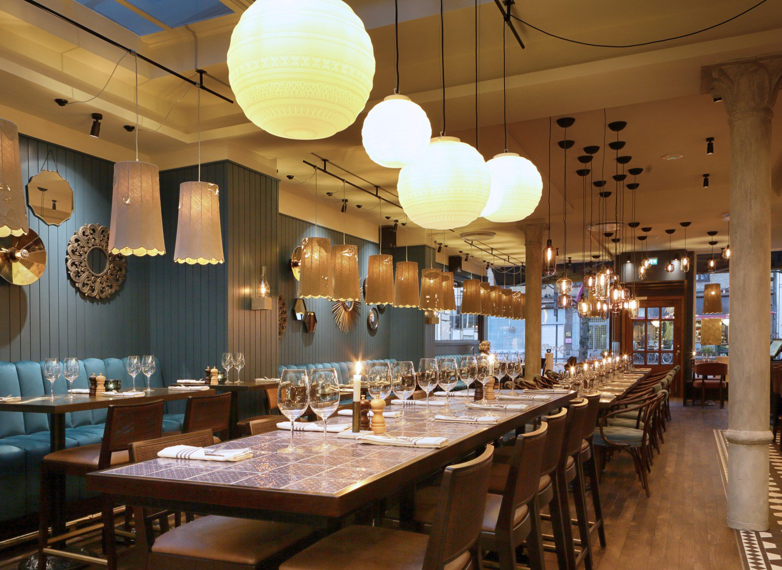 Decorative Lighting For Restaurants: All The Solutions For Rossi Industrial Vintage 1 Light Geometric Pendants (Photo 20 of 30)