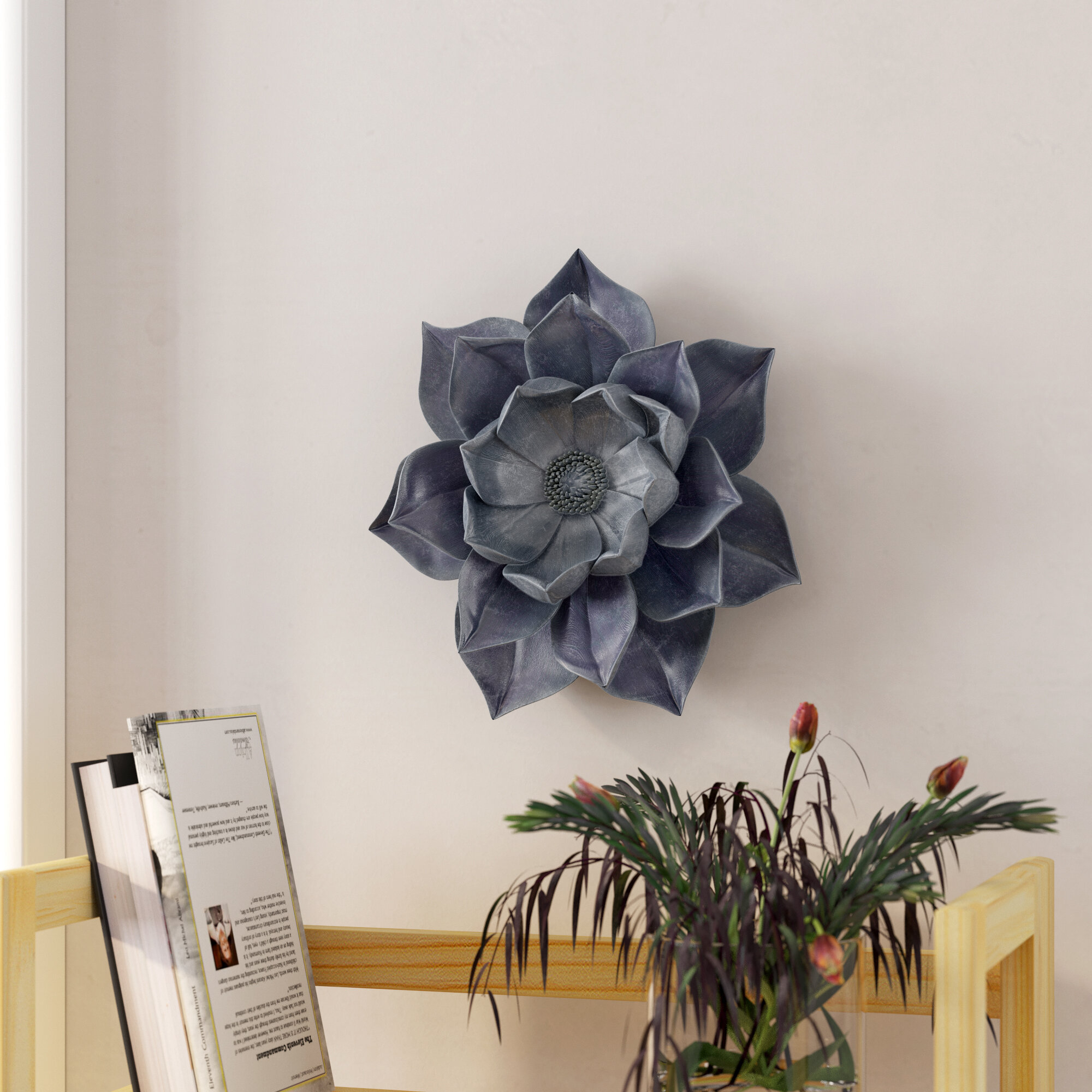 Decorative Resins Lotus Wall Flower Wall Décor Intended For Wall Decor By Charlton Home (Photo 27 of 30)