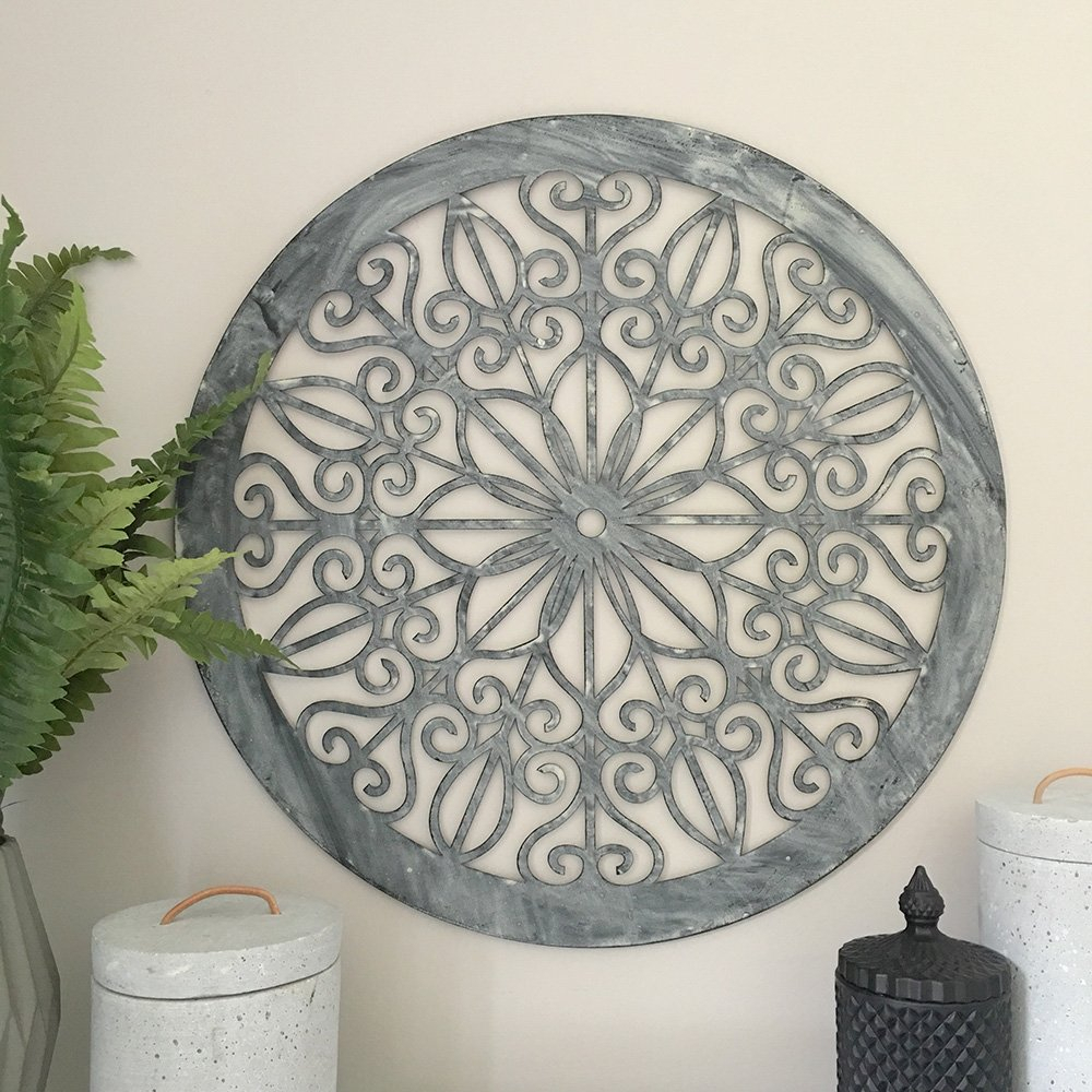 Decorative Round Metal Wall Panelgarden Artscreenwall Within Round Compass Wall Decor (Gallery 23 of 30)