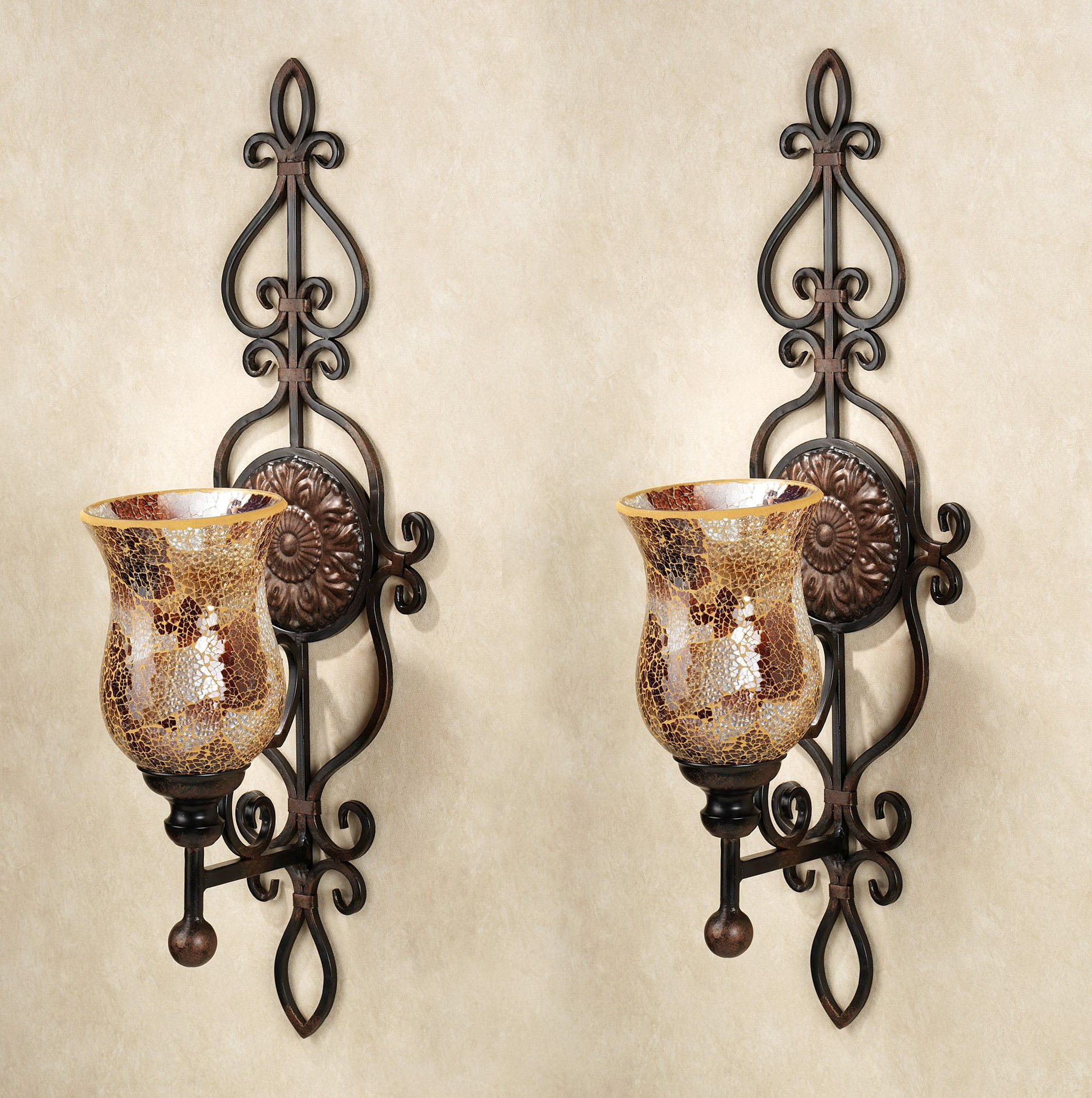 Decorative Wall Sconces Candle Holders | Sant Interior for Metal Wall Decor By Charlton Home (Image 10 of 30)