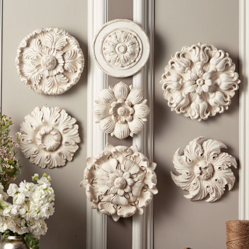 Decorative Wood Wall Medallions Walls Decor Cowboy Small pertaining to Small Medallion Wall Decor (Image 5 of 30)