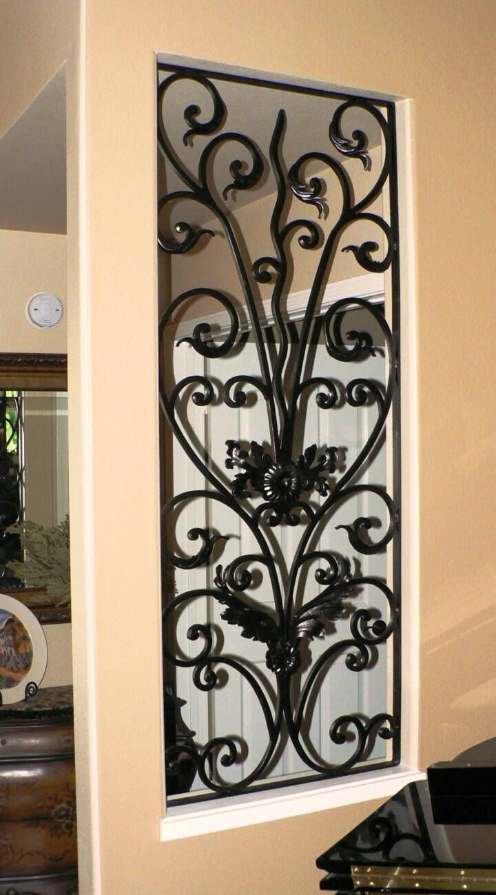 Decorative Wrought Iron Panel | Home Decor | Wrought Iron Within Ornamental Wood And Metal Scroll Wall Decor (Gallery 6 of 30)