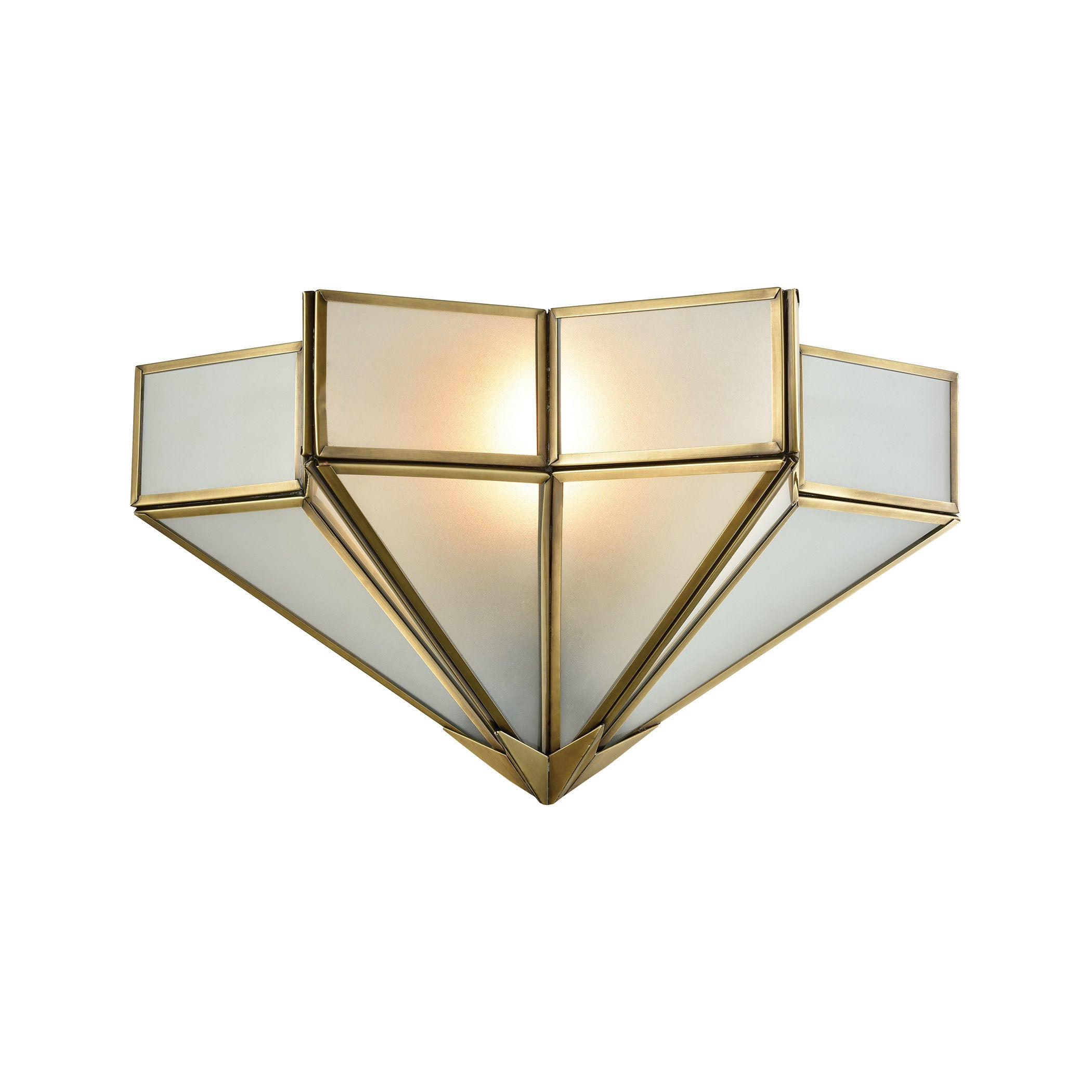 Decostar Brushed Brass Metal With Frosted Glass Shade 1 Light Wall Sconce Throughout Barrons 1 Light Single Cylinder Pendants (Gallery 21 of 30)