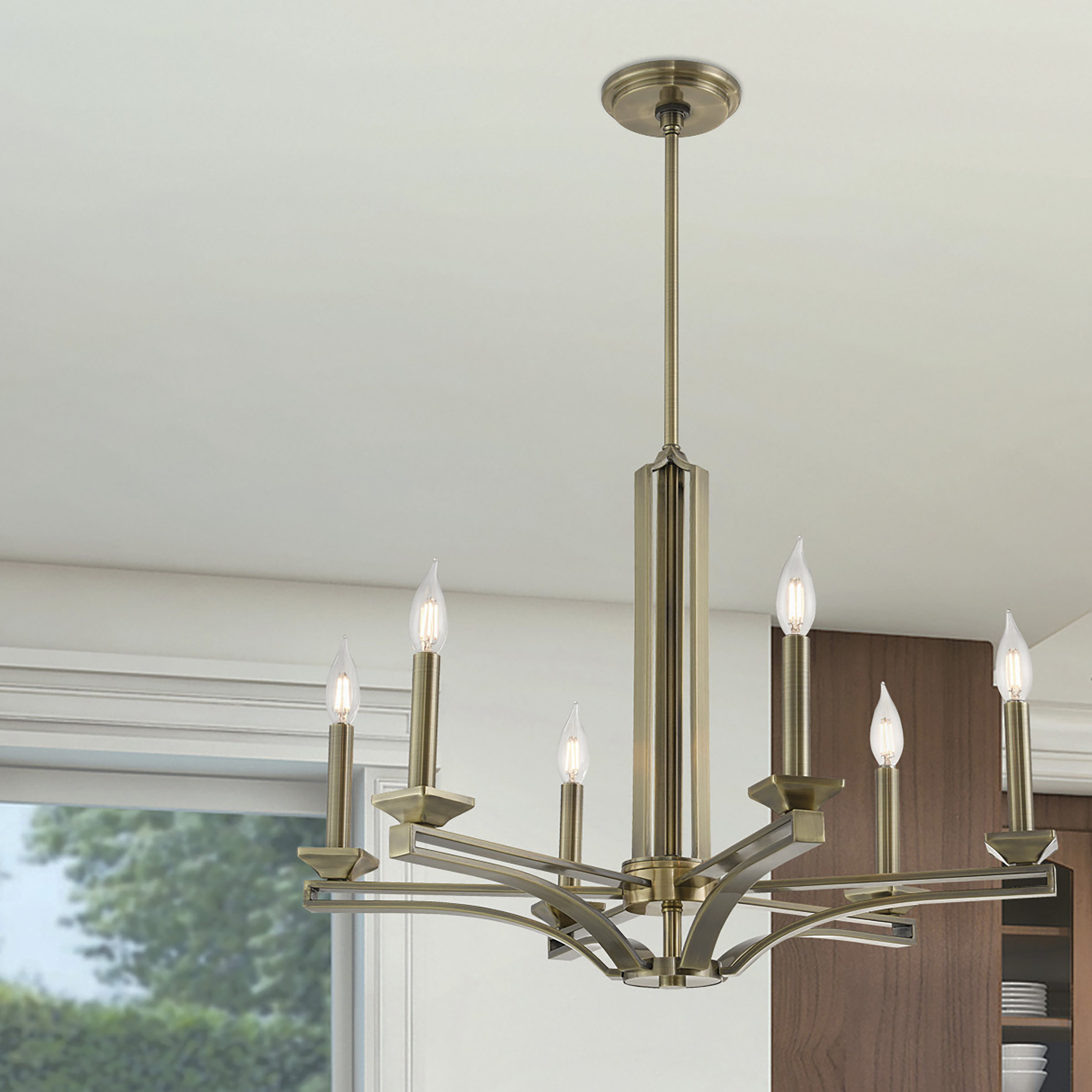 Dedham 6 Light Candle Style Chandelier Pertaining To Lynn 6 Light Geometric Chandeliers (Photo 15 of 30)