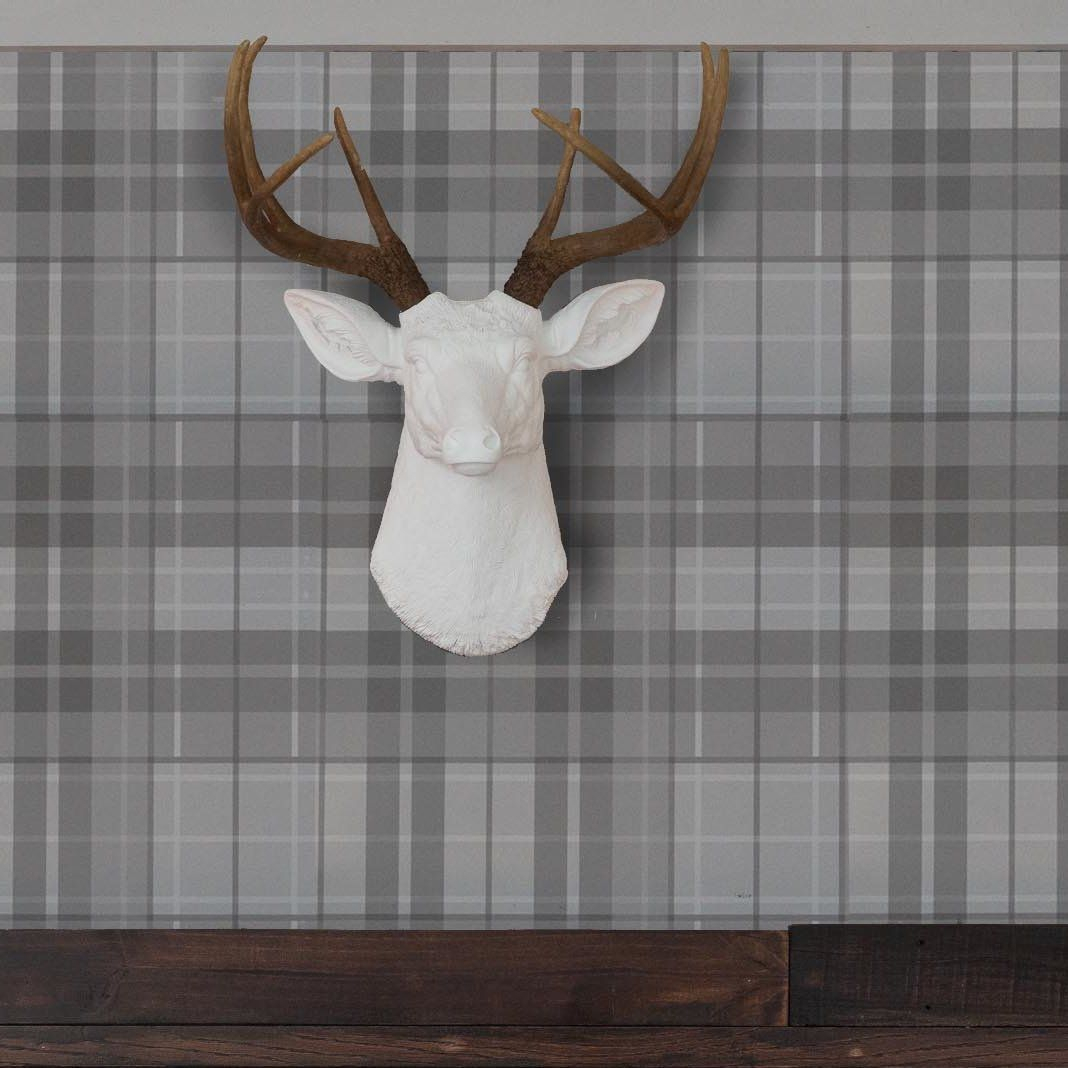 Deer Head Antlers Faux Taxidermy Wall Décor | Products throughout Atlantis Faux Taxidermy Wall Decor (Image 6 of 30)