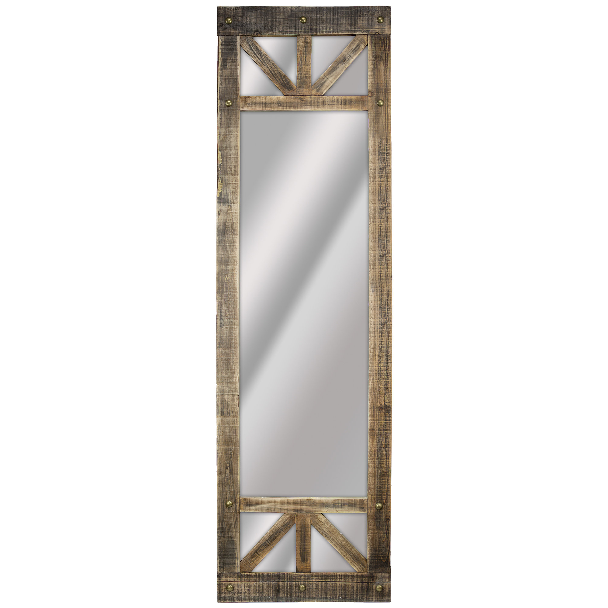 Delicia Décor Rustic Wood Full-Length Wall Mirror with Boyers Wall Mirrors (Image 16 of 30)