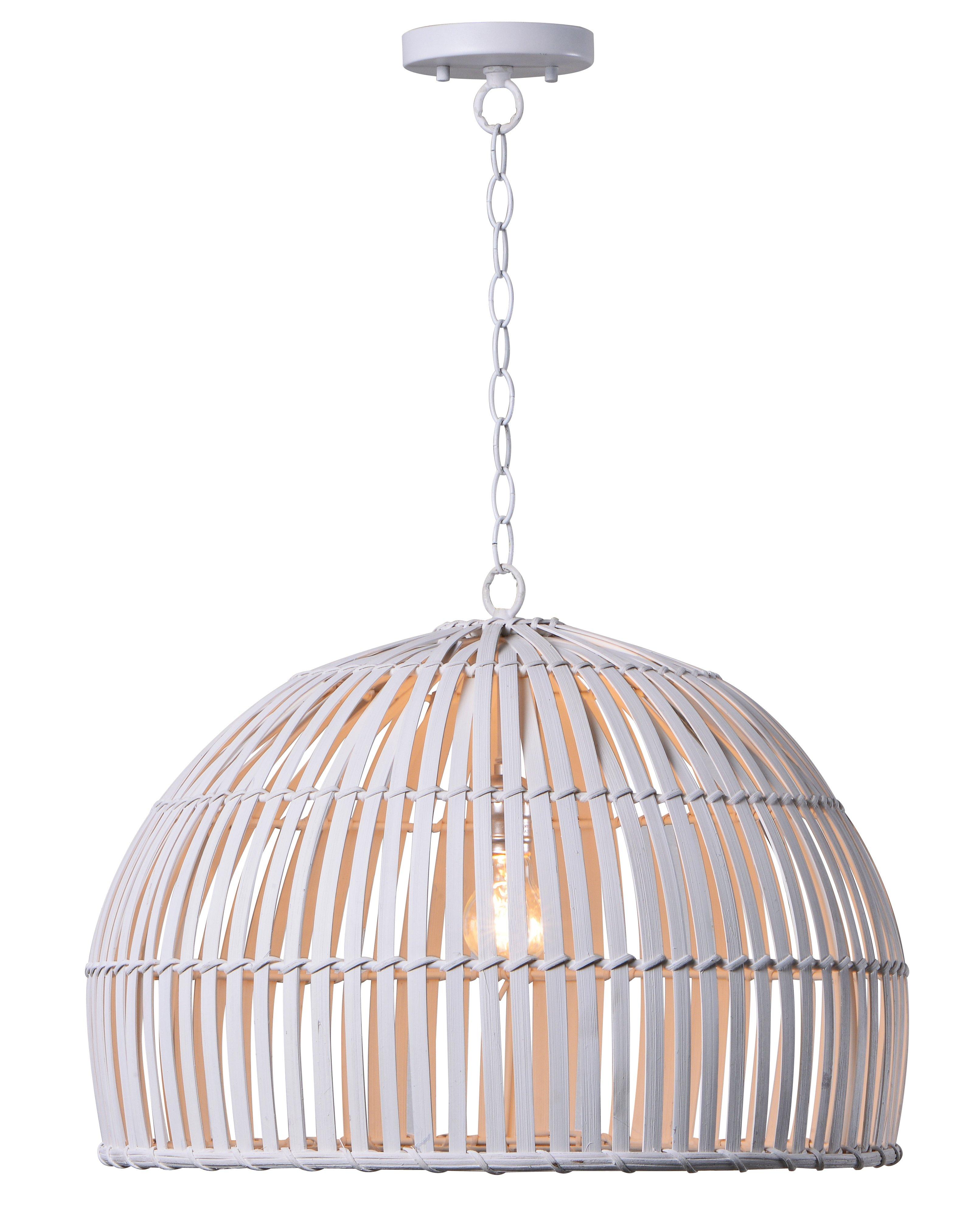 Delmore 1-Light Single Dome Pendant & Reviews | Joss & Main with Granville 2-Light Single Dome Pendants (Image 8 of 30)