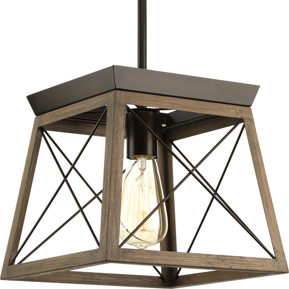 Delon 1 Light Lantern Geometric Pendant Inside Delon 1 Light Lantern Geometric Pendants (Photo 3 of 30)