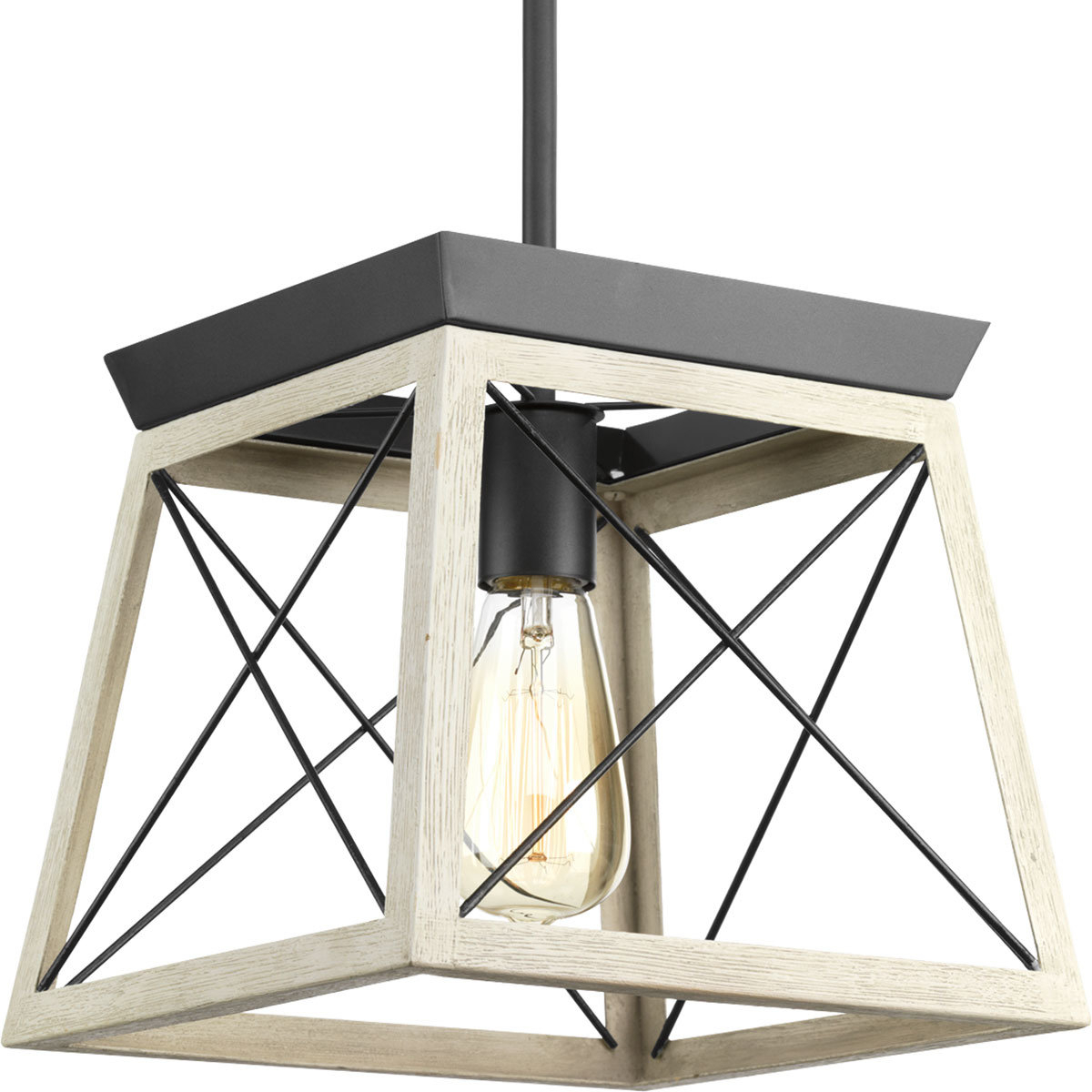Delon 1 Light Lantern Pendant Within Delon 1 Light Lantern Geometric Pendants (Photo 5 of 30)