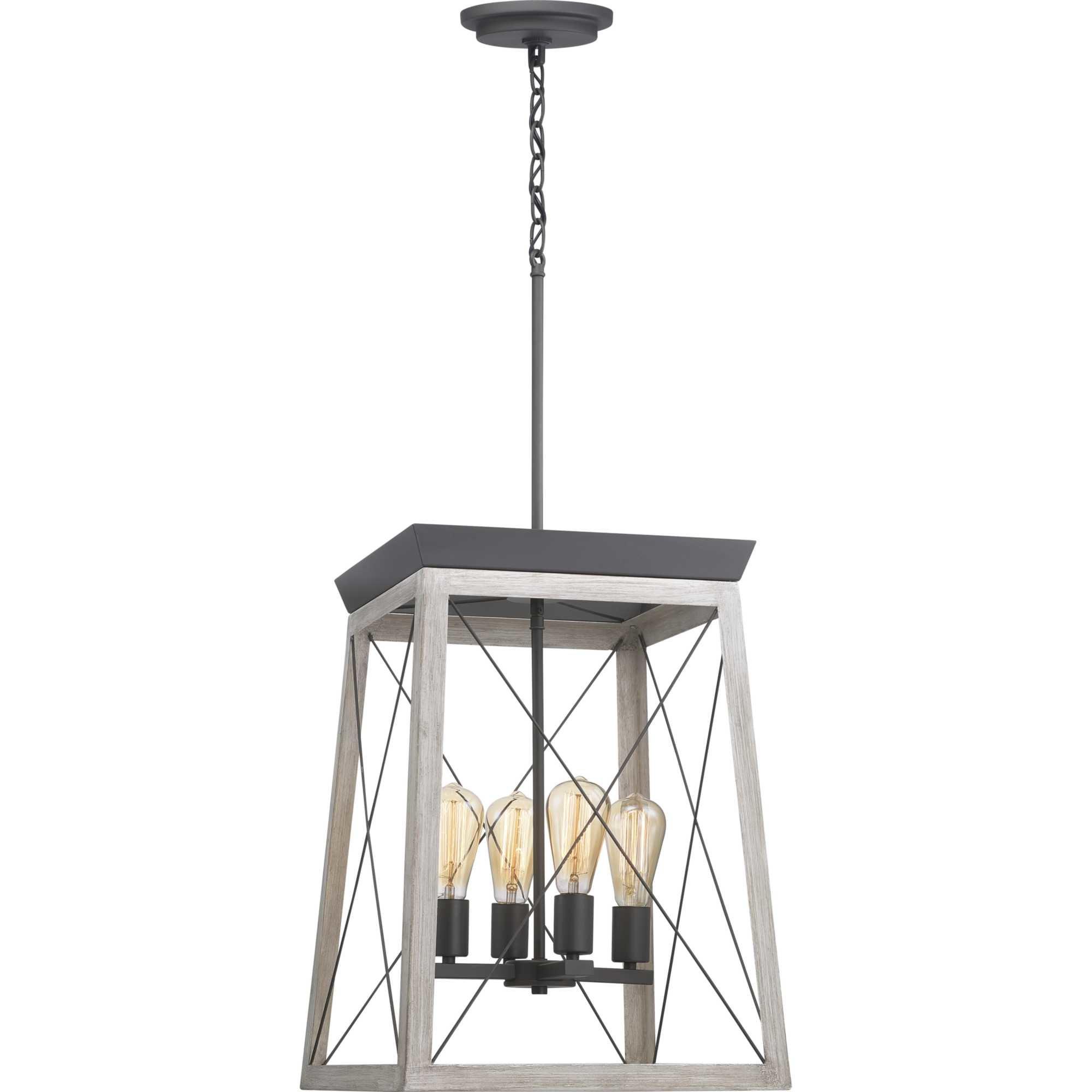 Delon 4-Light Lantern Chandelier regarding Delon 4-Light Square Chandeliers (Image 7 of 30)