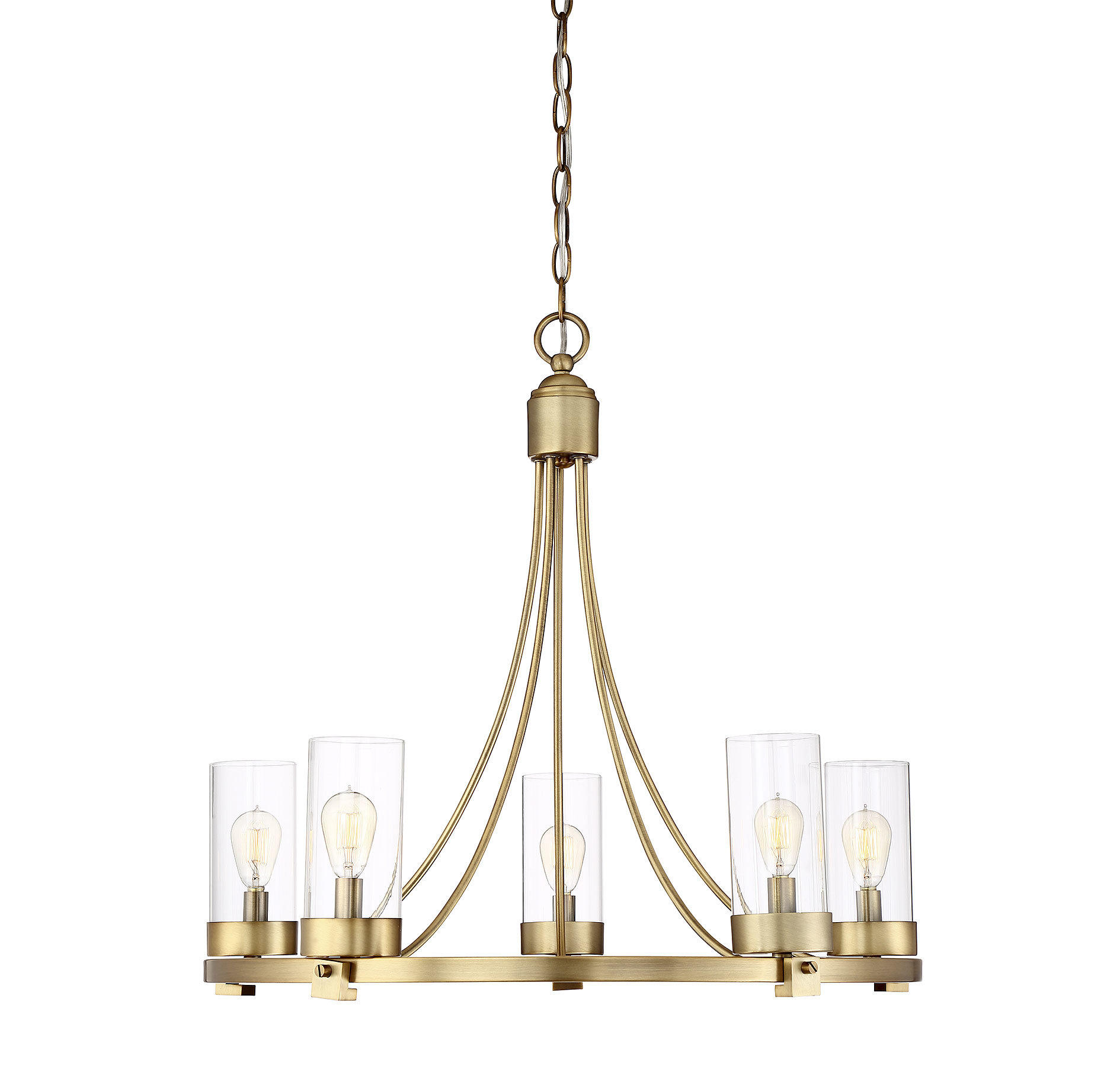 Delshire 5 Light Wagon Wheel Chandelier With Regard To Janette 5 Light Wagon Wheel Chandeliers (Photo 5 of 30)