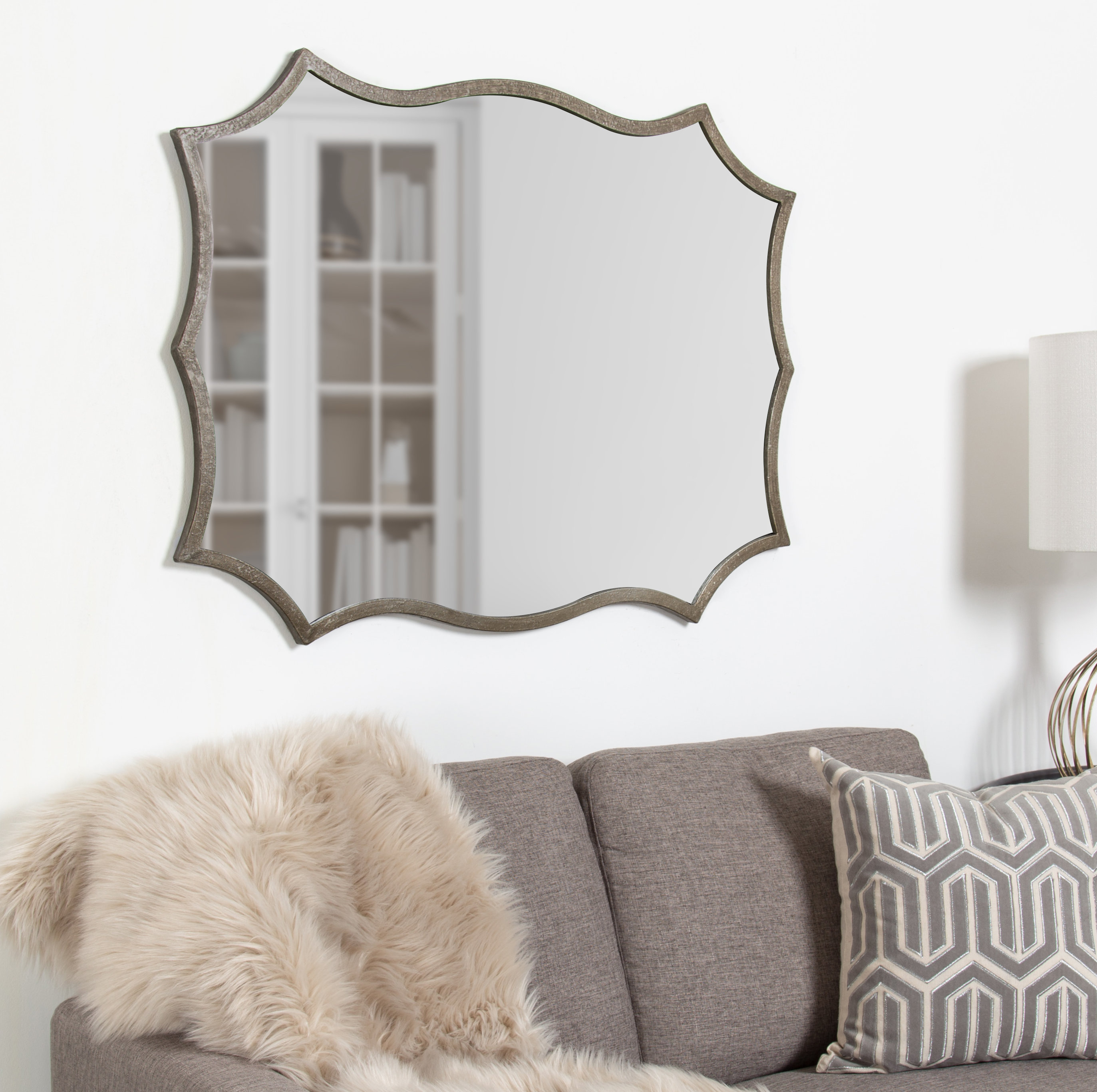Delvale Scallop Accent Wall Mirror Within Guidinha Modern & Contemporary Accent Mirrors (View 13 of 30)