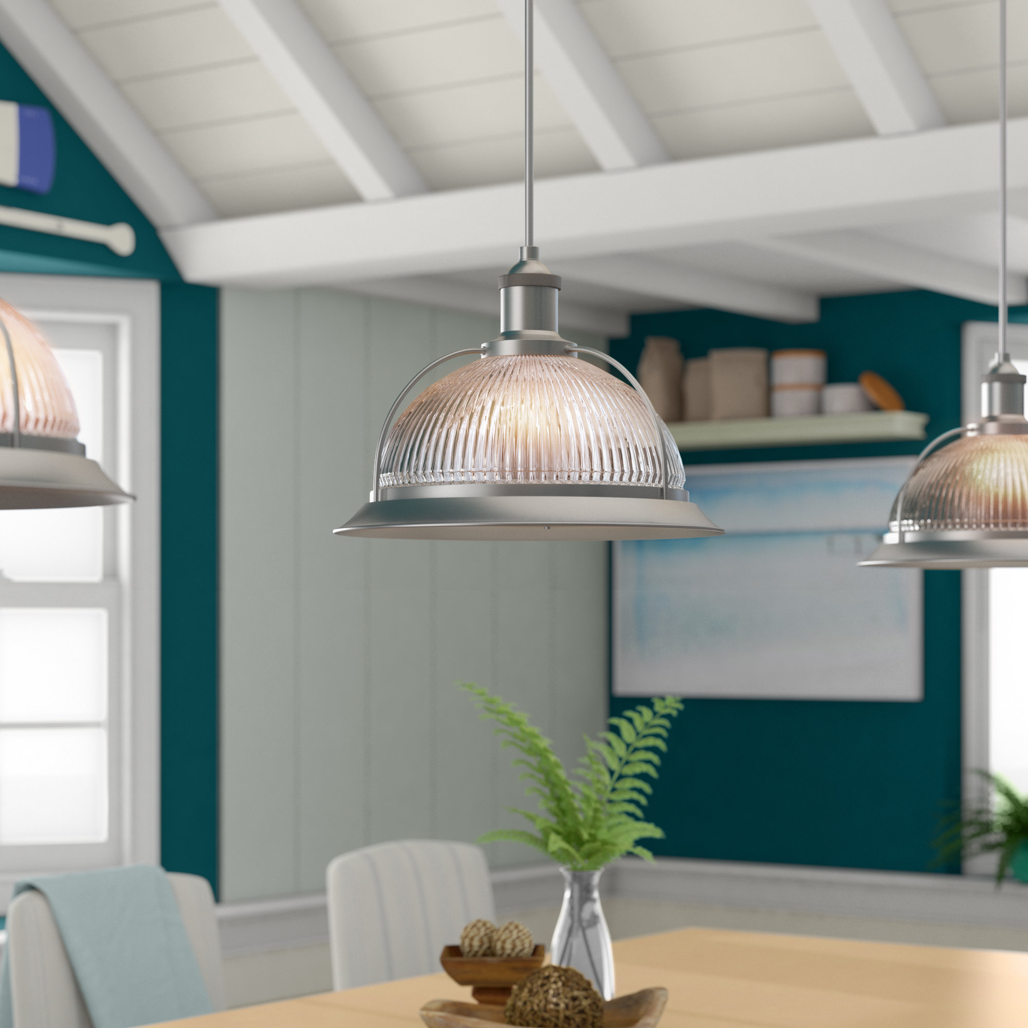 Delway 1 Light Inverted Pendant With Regard To Granville 2 Light Single Dome Pendants (Photo 23 of 30)