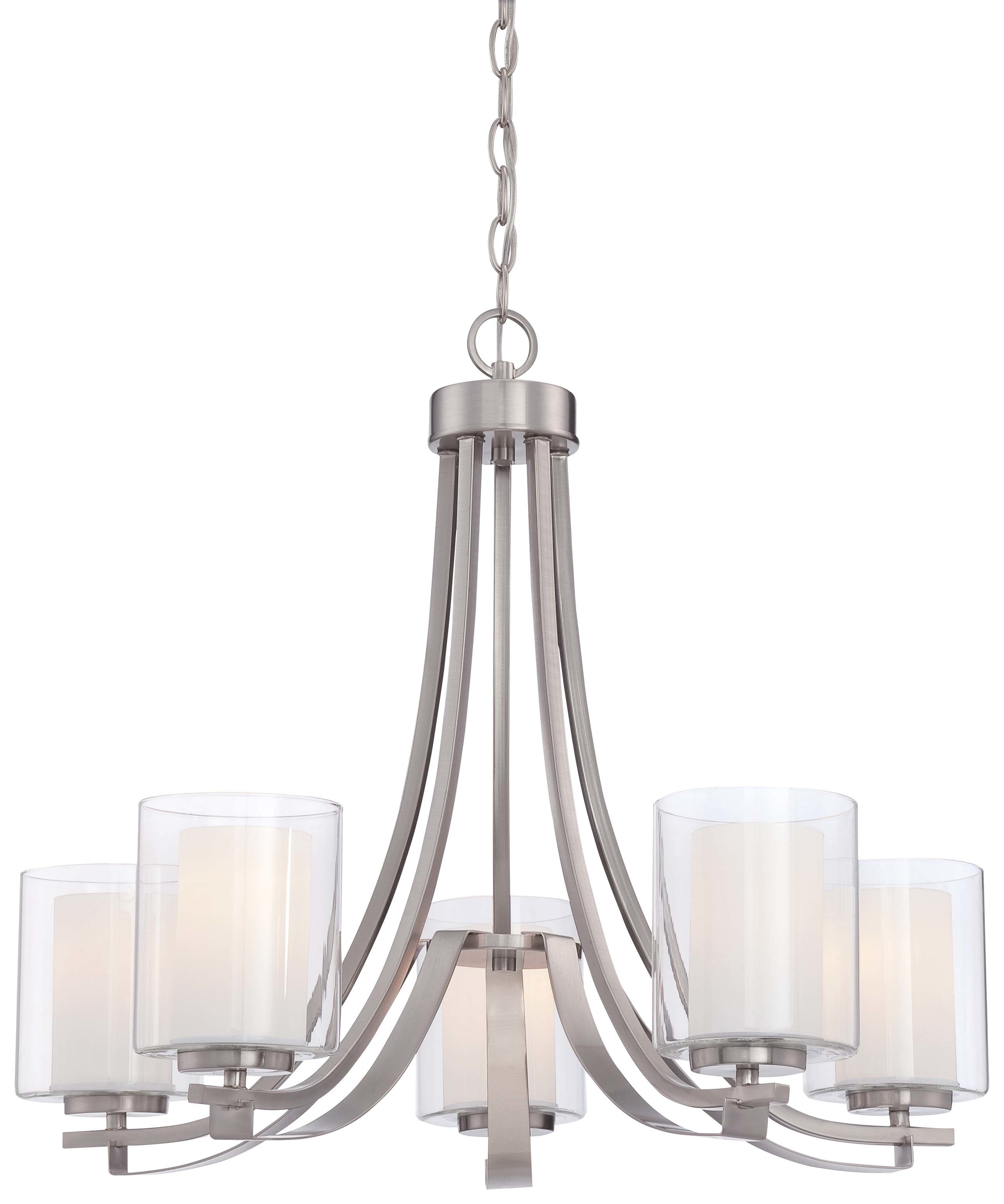 Demby 5 Light Shaded Chandelier For Crofoot 5 Light Shaded Chandeliers (View 9 of 30)