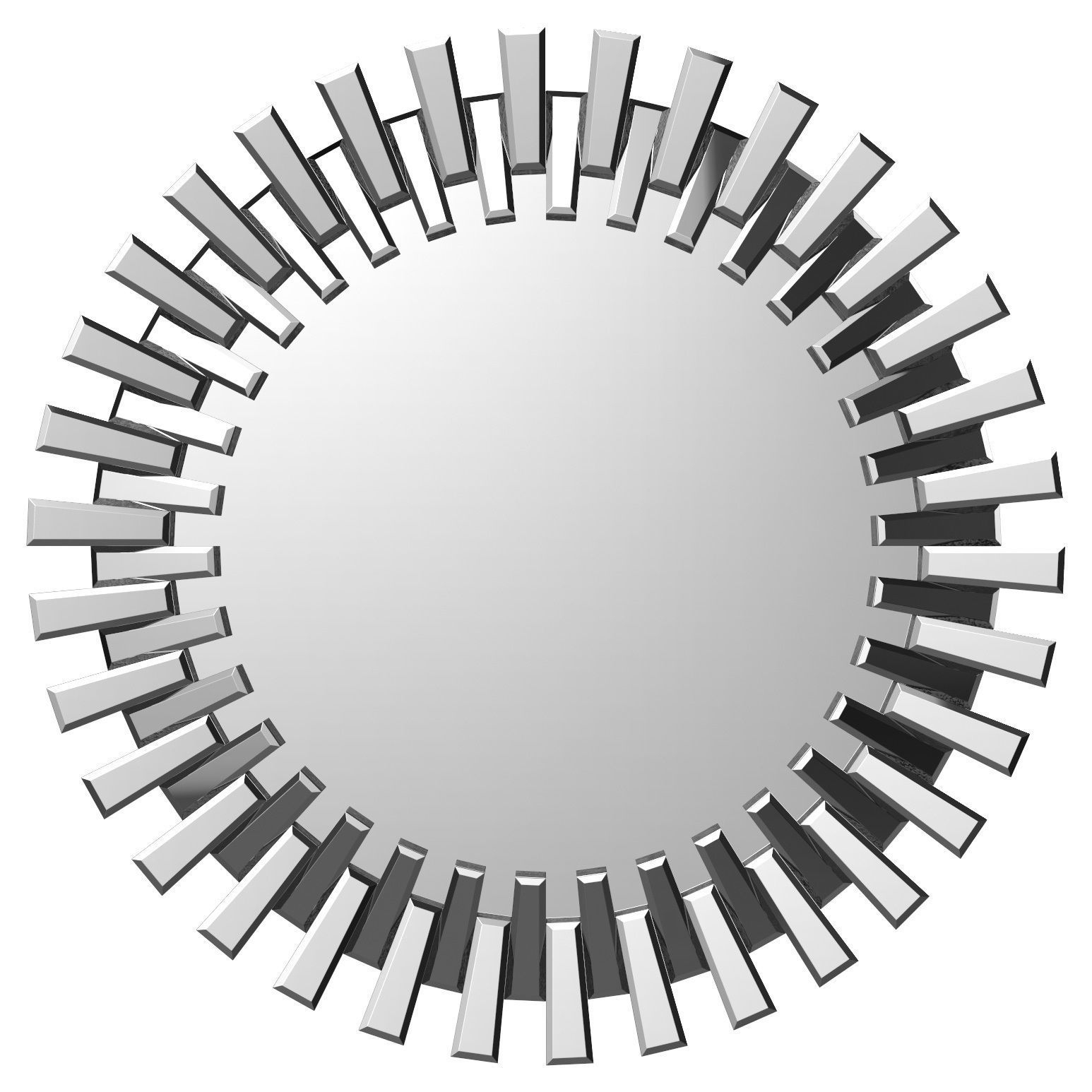 Deniece Sunburst Round Wall Mirror Wrlo7344 | 3D Model for Kentwood Round Wall Mirrors (Image 6 of 30)