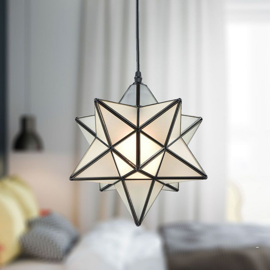 Denzel 1 Light Single Star Pendant Regarding 1 Light Single Star Pendants (Photo 7 of 30)