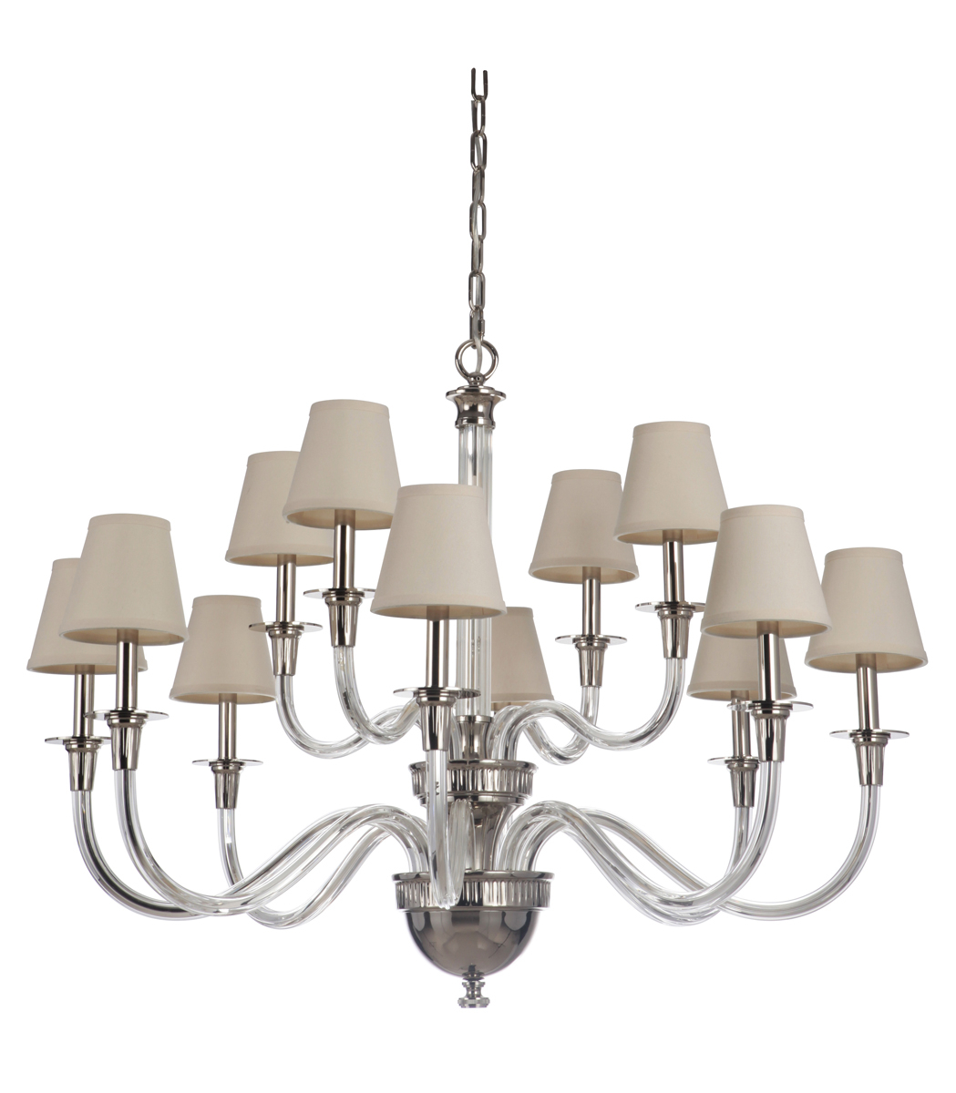 Deran Chandelier In Polished Nickel Regarding Corona 12 Light Sputnik Chandeliers (View 24 of 30)