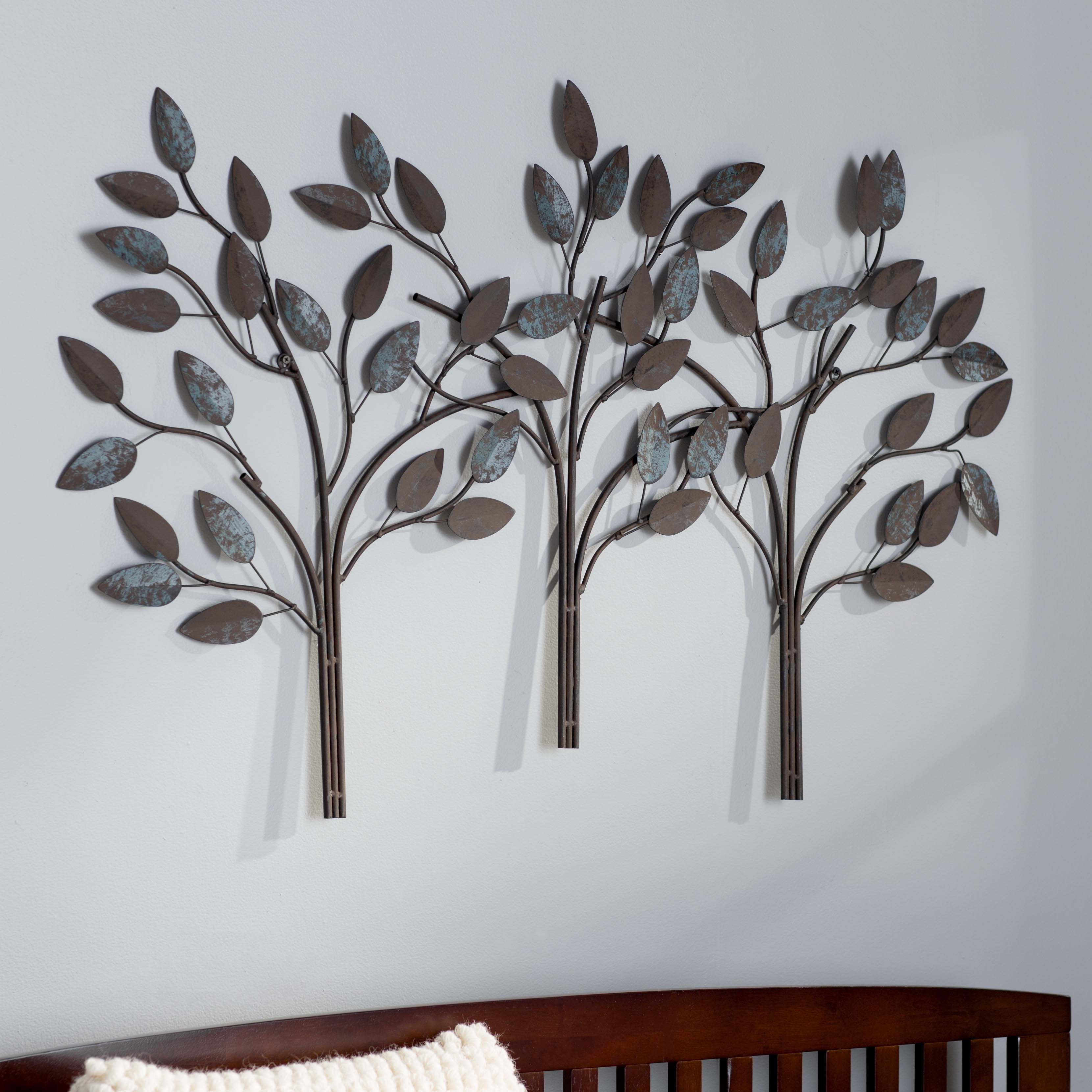 Desford Leaf Wall Décor | On The Wall | Tree Wall Decor For Desford Leaf Wall Decor By Charlton Home (View 3 of 30)