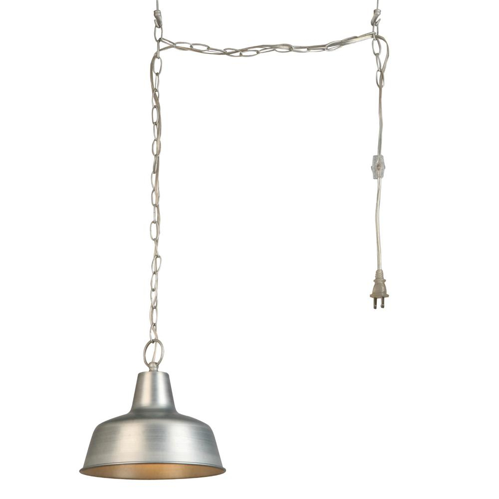 Design House Mason 1 Light Galvanized Swag Pendant Light Throughout 1 Light Unique / Statement Geometric Pendants (View 11 of 30)