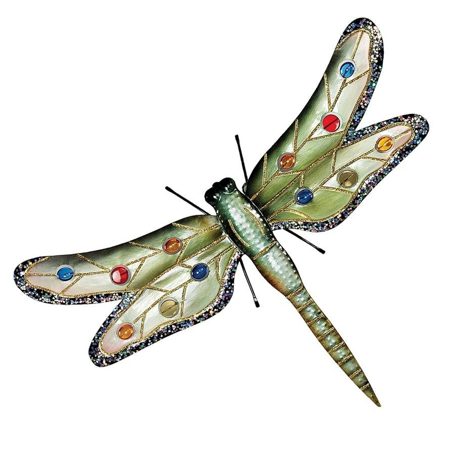 Design Toscano Oversized Dragonfly Metal Wall Sculpture With Regard To Dragonfly Wall Decor (Gallery 26 of 30)