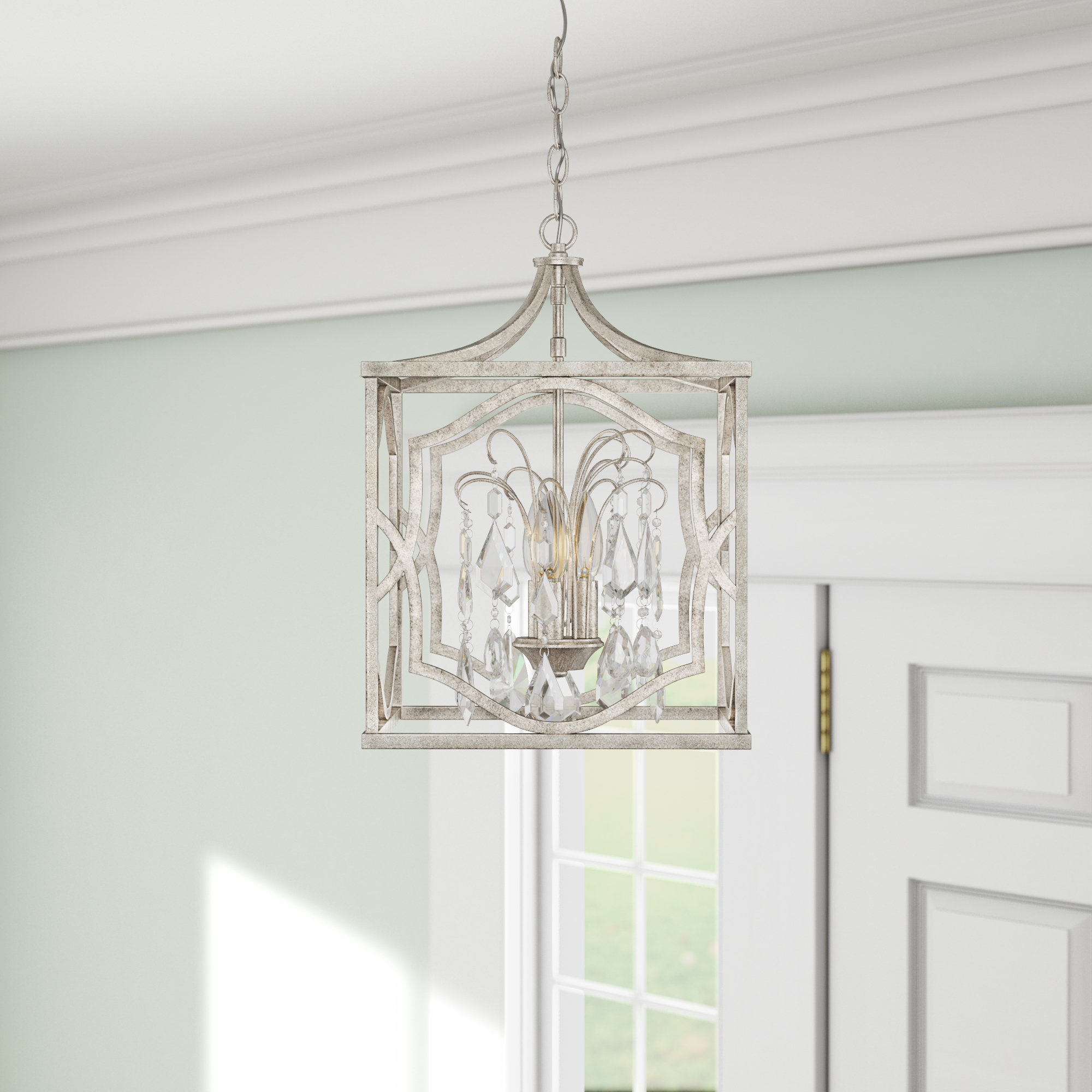 Destrey 3 Light Lantern Pendant Throughout Destrey 3 Light Lantern Square/rectangle Pendants (Gallery 6 of 30)