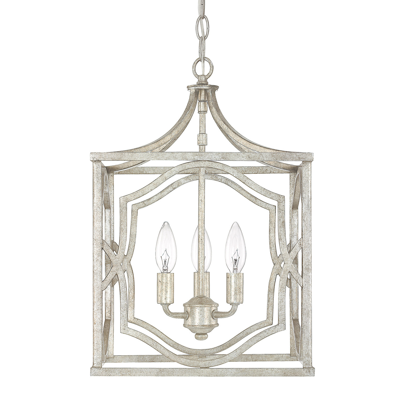 Destrey 3 Light Lantern Square/rectangle Pendant Intended For Destrey 3 Light Lantern Square/rectangle Pendants (Photo 1 of 30)