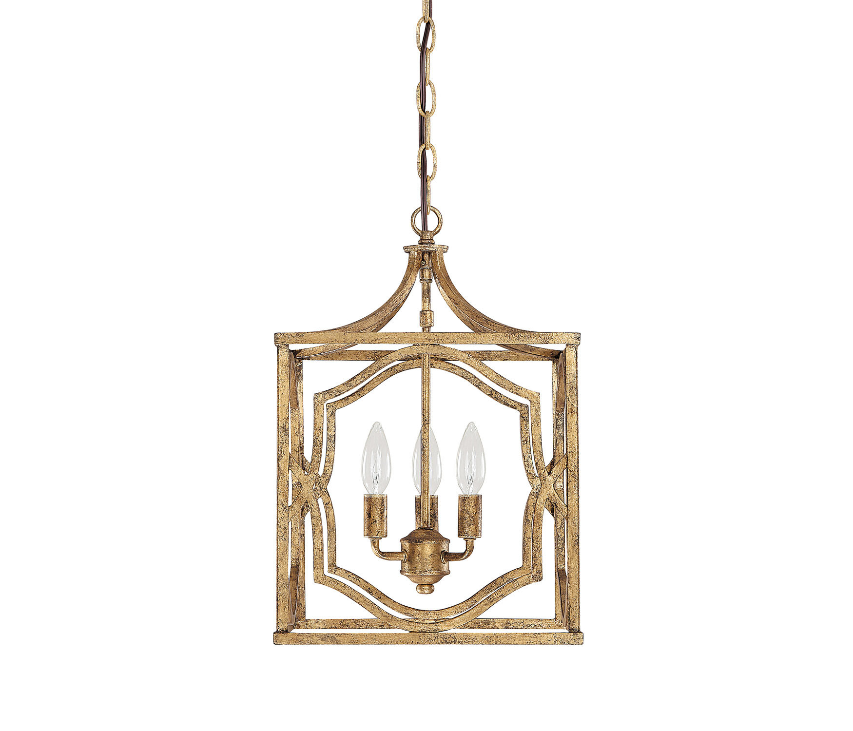 Destrey 3-Light Lantern Square/rectangle Pendant & Reviews intended for Armande 3-Light Lantern Geometric Pendants (Image 15 of 30)