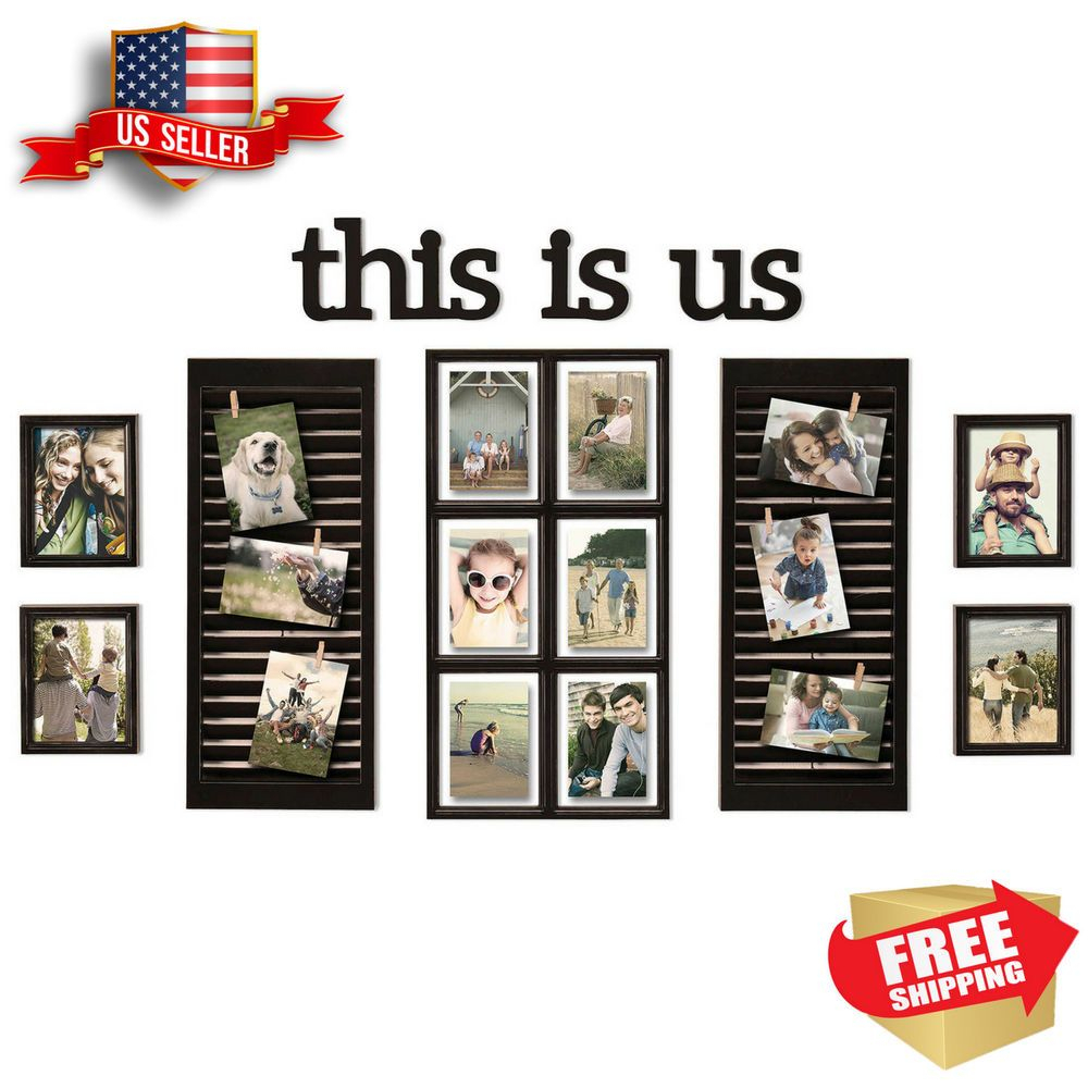 Details About 16-Piece Picture Photo Frame Set This Is Us within This Is Us Wall Decor (Image 4 of 30)