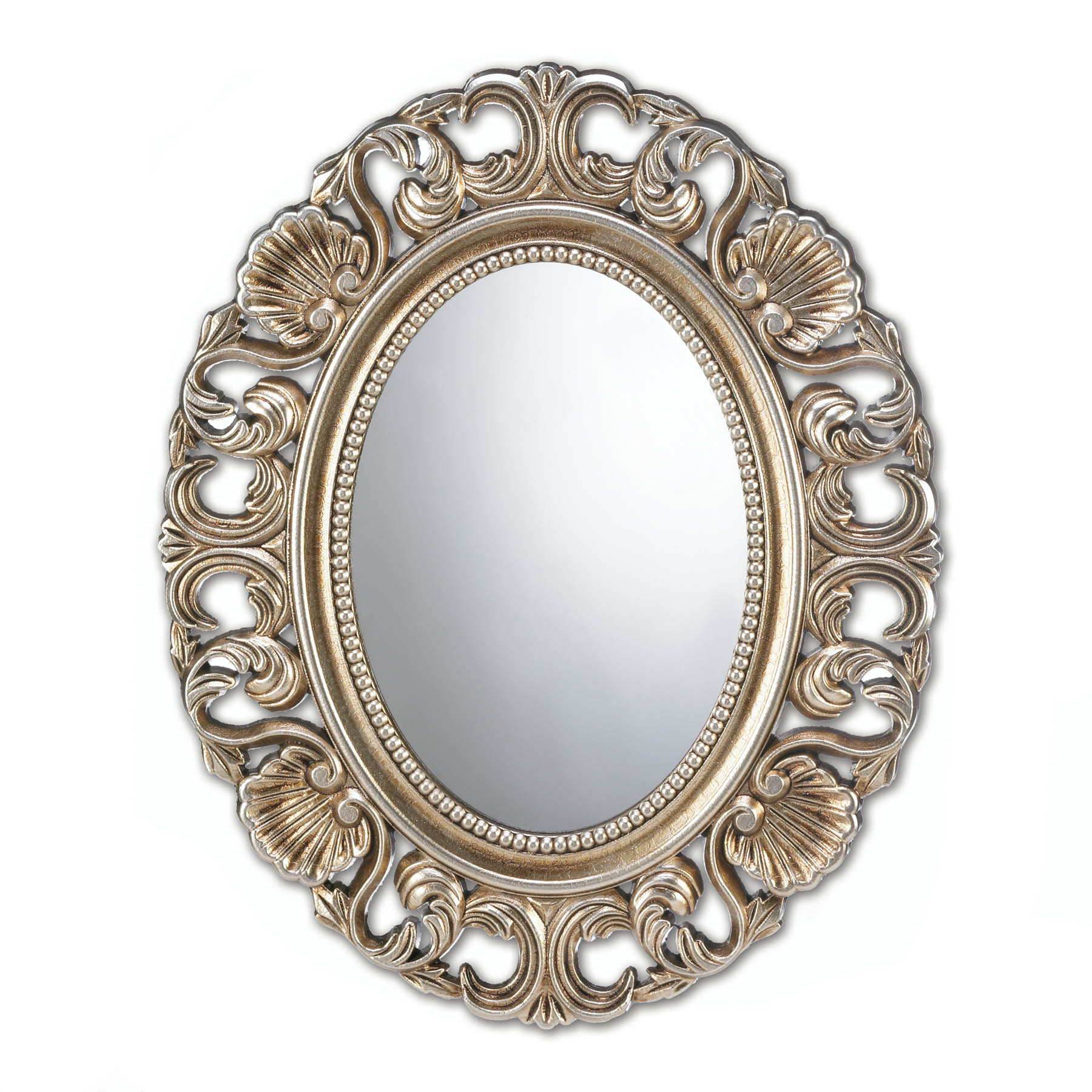 Details About Accent Plus – Gilded Oval Wall Mirror For Oval Wood Wall Mirrors (Gallery 8 of 30)