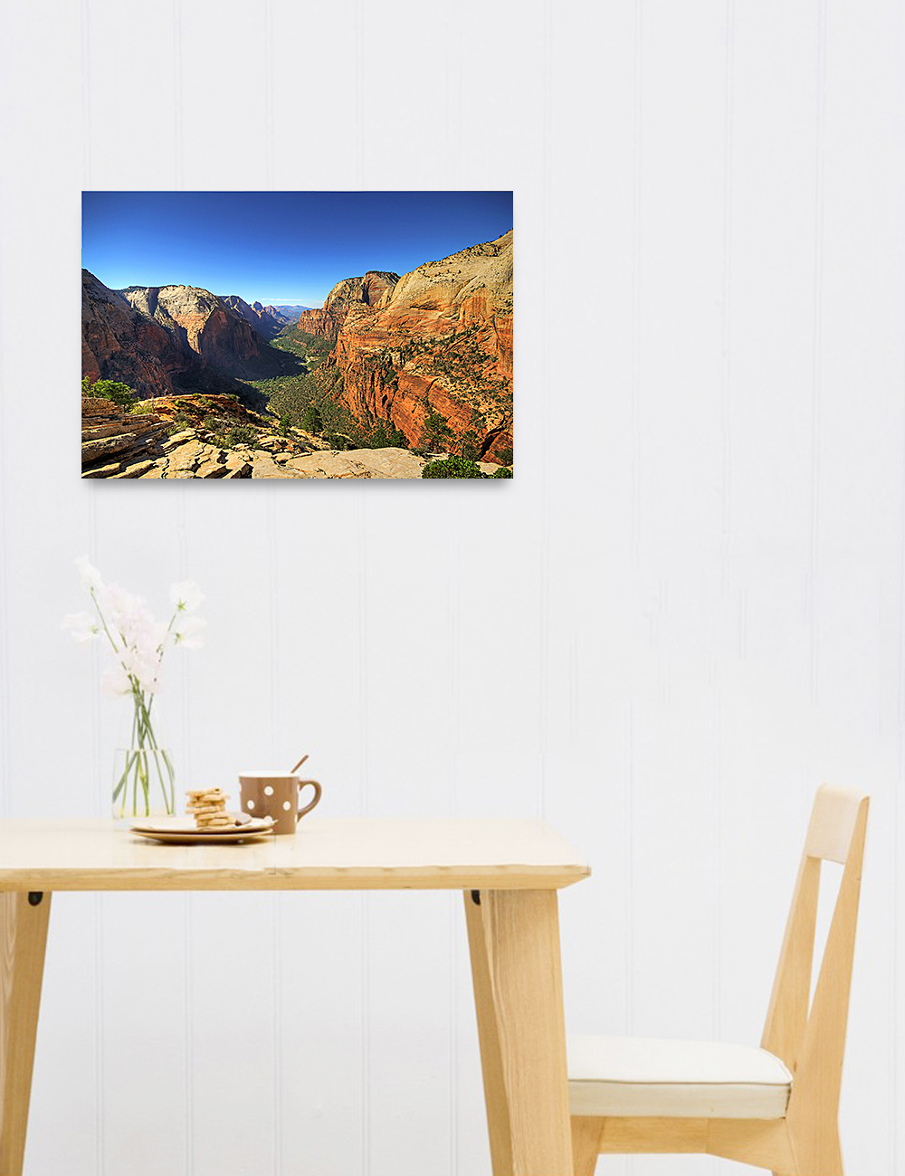 Details About Angel's Landing At Zion National Park, Utah. Giclee Canvas Prints For Wall Decor With Landing Art Wall Decor (Gallery 24 of 30)