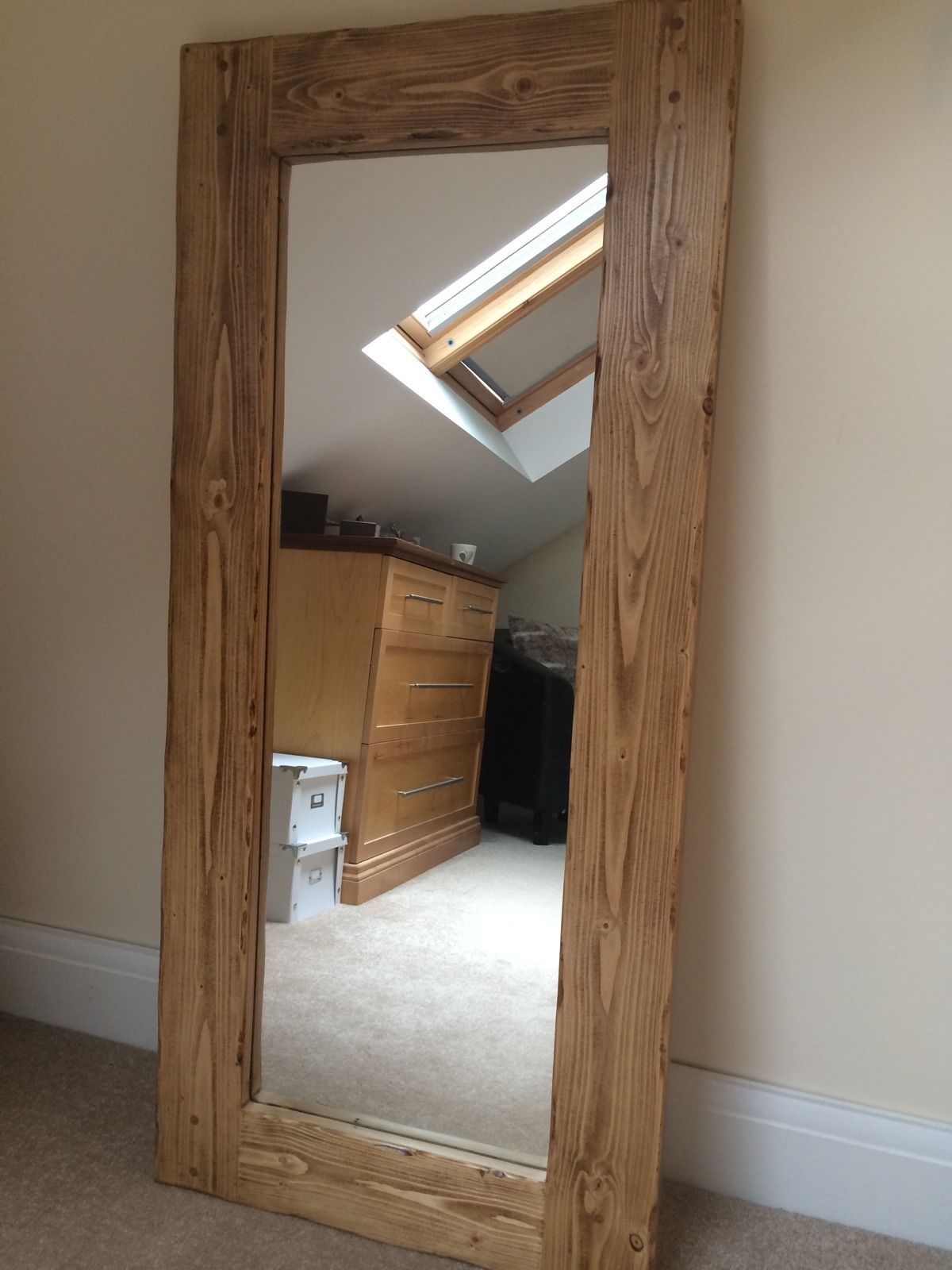 Details About *beautiful Quality Handmade Chunky Rustic Full Regarding Handcrafted Farmhouse Full Length Mirrors (View 7 of 30)