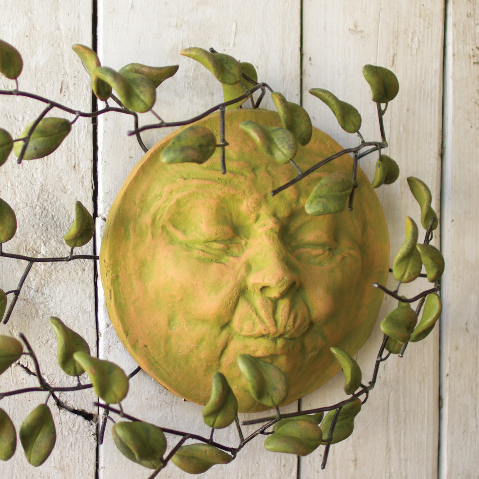 Details About Bungalow Rose Clay Wind Blown Sun Face Wall Décor With Nature Metal Sun Wall Decor (Photo 30 of 30)