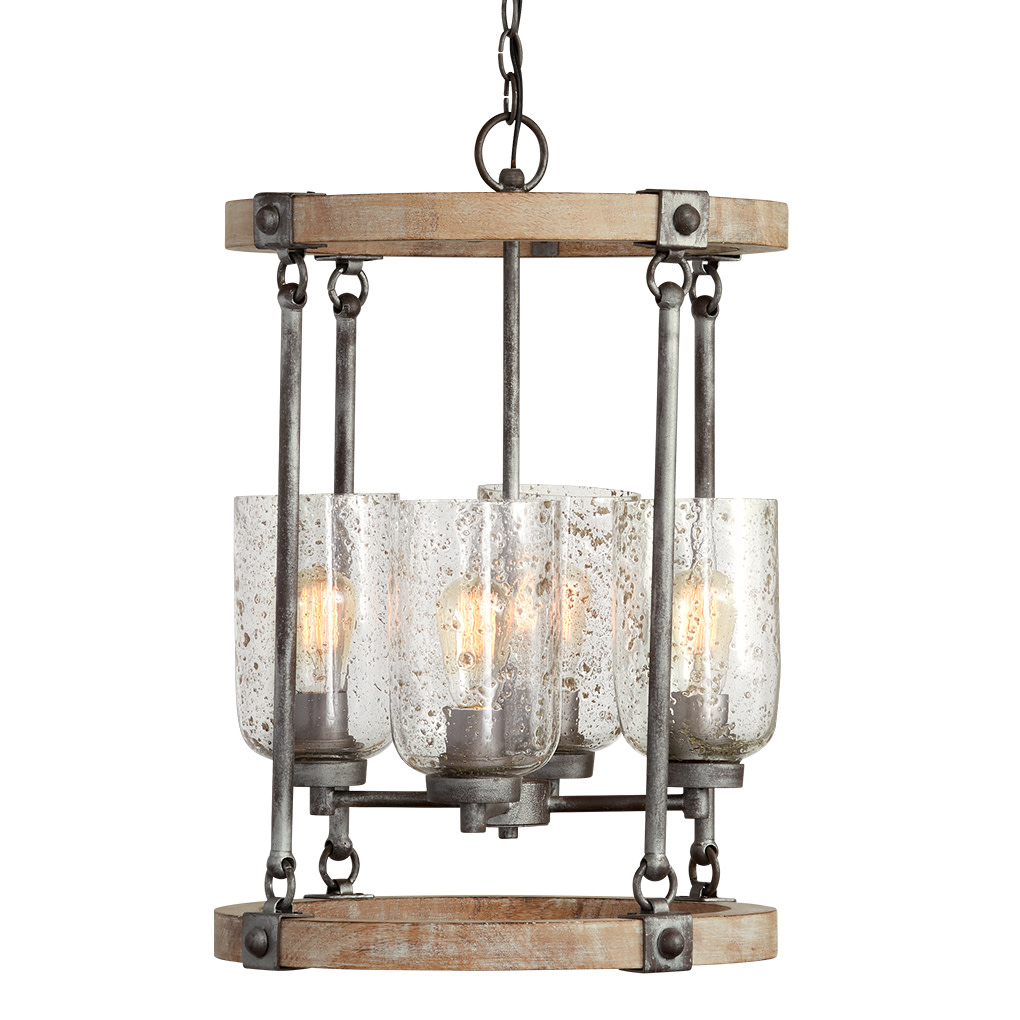 "Details About Capital Lighting 434941 482 Nolan 4 Light 17"" Wide Chandelier – Urban Wash For Nolan 1 Light Single Cylinder Pendants (Gallery 30 of 30)"