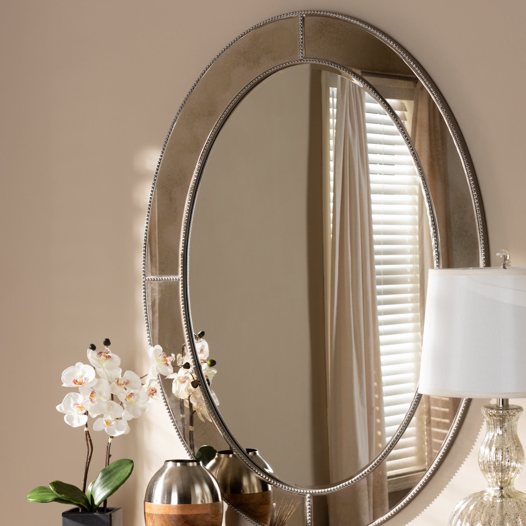 Details About Charlton Home Caffrey Wall Mirror within Metal Wall Decor By Charlton Home (Image 12 of 30)