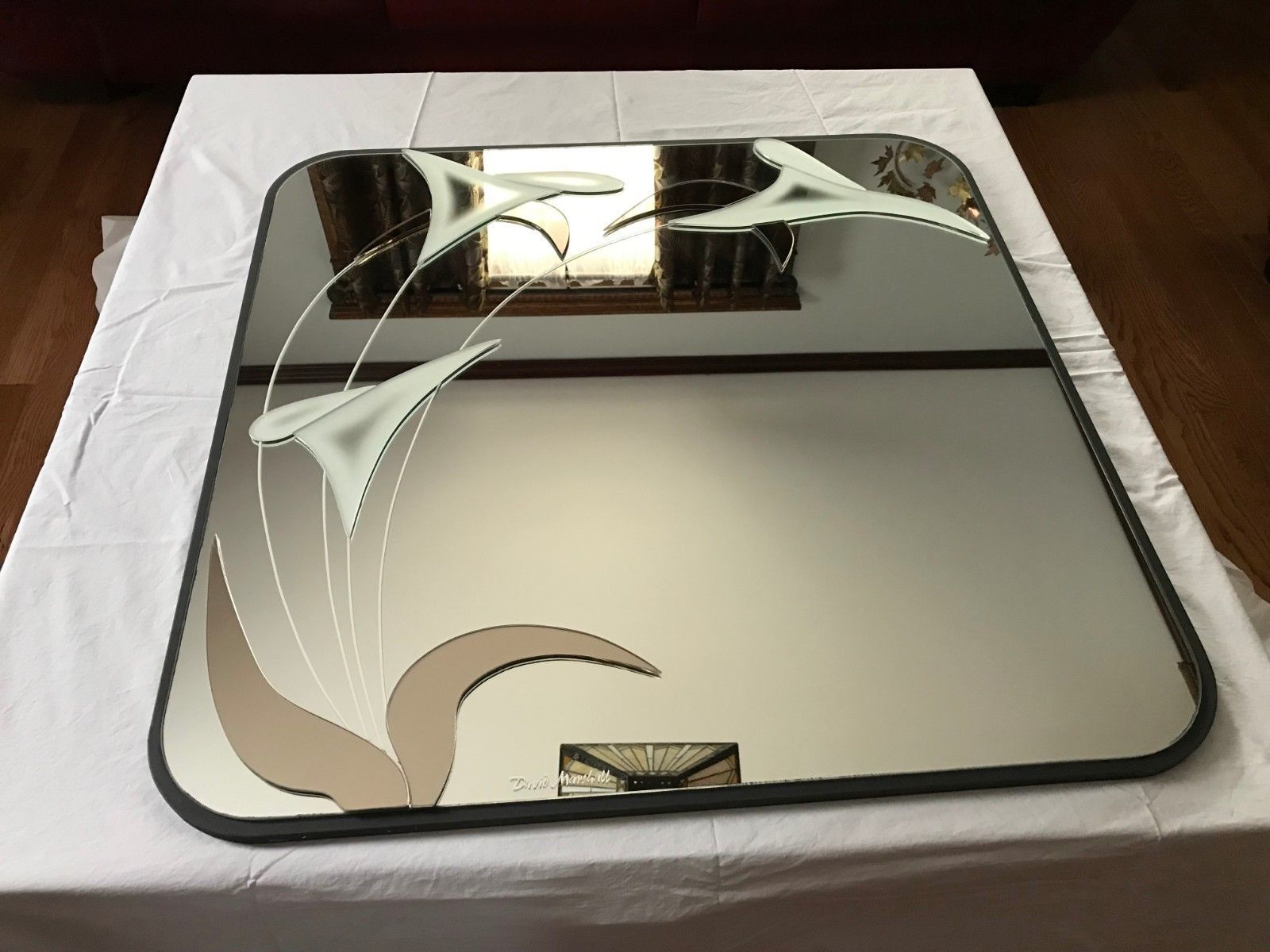 """Details About David Marshall Art Deco 1985 30"""" Signed Wall For Polen Traditional Wall Mirrors (Photo 19 of 30)"""