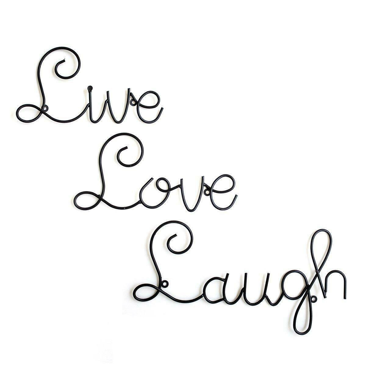 Details About Live Love Laugh Set 3 Metal Wall Decor Art Mount Home Metal Word Decorations Pertaining To Live, Laugh, Love Antique Copper Wall Decor (View 21 of 30)