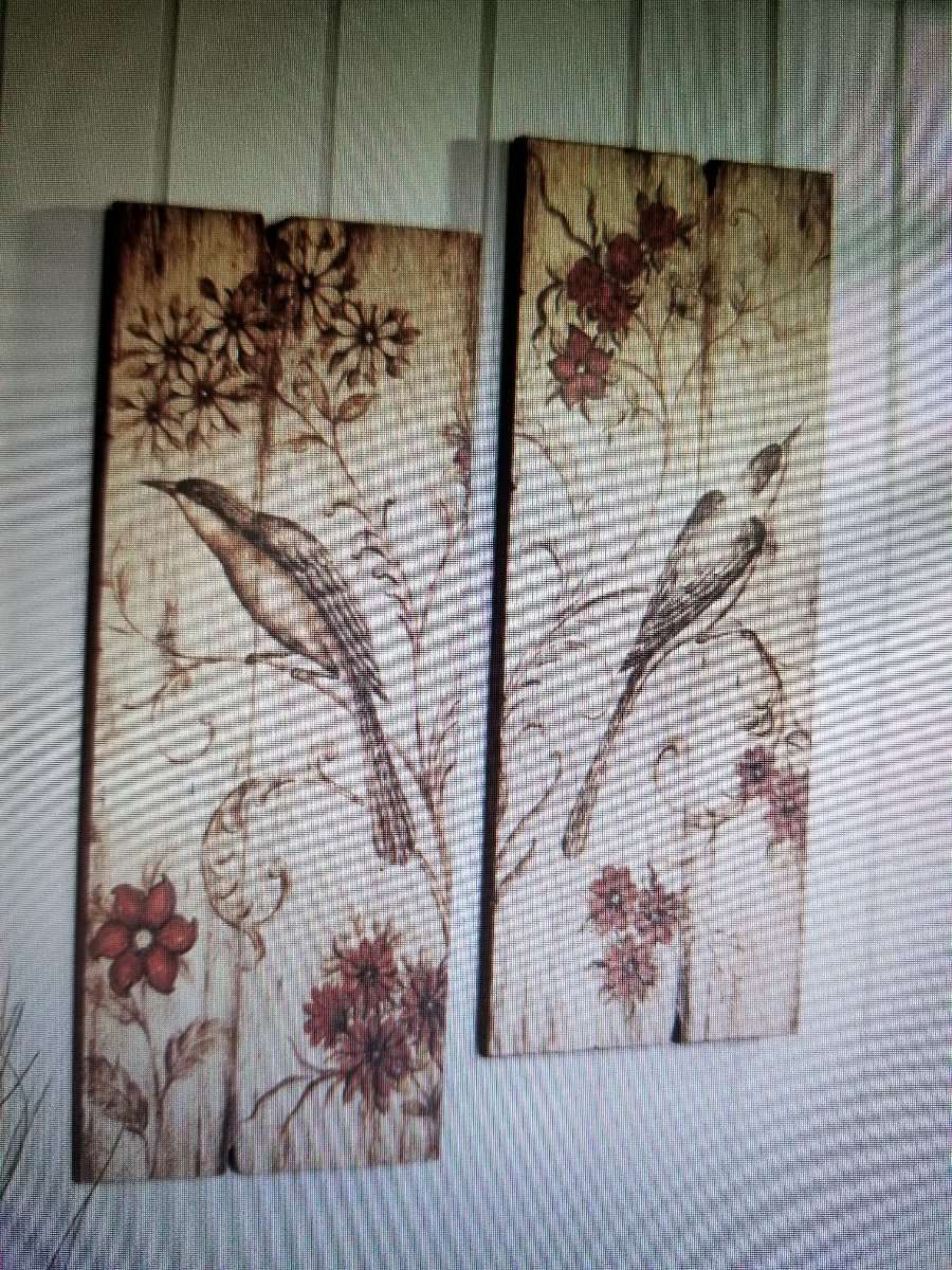 Details About New Charleston Home Bird Red Floral Scroll Wooden Wall Art Decor Regarding Wall Decor By Charlton Home (Gallery 28 of 30)
