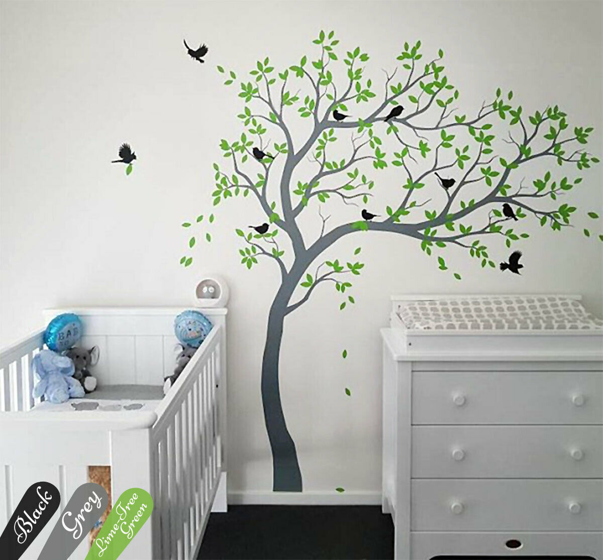 Details About Nursery Tree Wall Decal Mural Sticker Beautiful Large Tree  Wall Decor Kw032R With Tree Wall Decor (Photo 15 of 30)