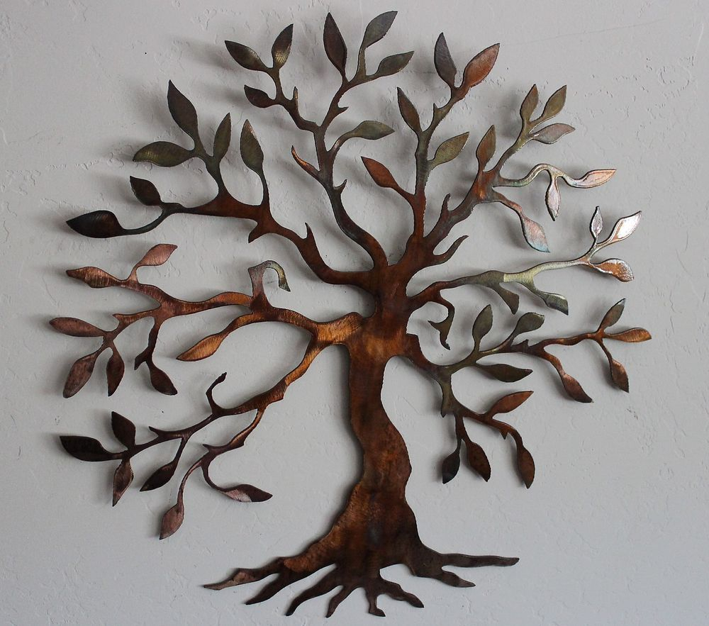 Details About Olive Tree –tree Of Life Metal Wall Art Decor Regarding Tree Of Life Wall Decor (View 19 of 30)