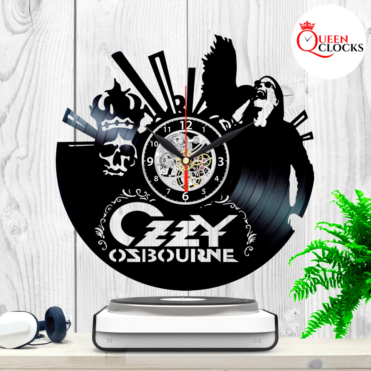 Details About Ozzy Osbourne Music Vinyl Record Wall Clock Unique Gift Ideas  Home Decor with regard to Osbourne Wall Decor (Image 7 of 30)