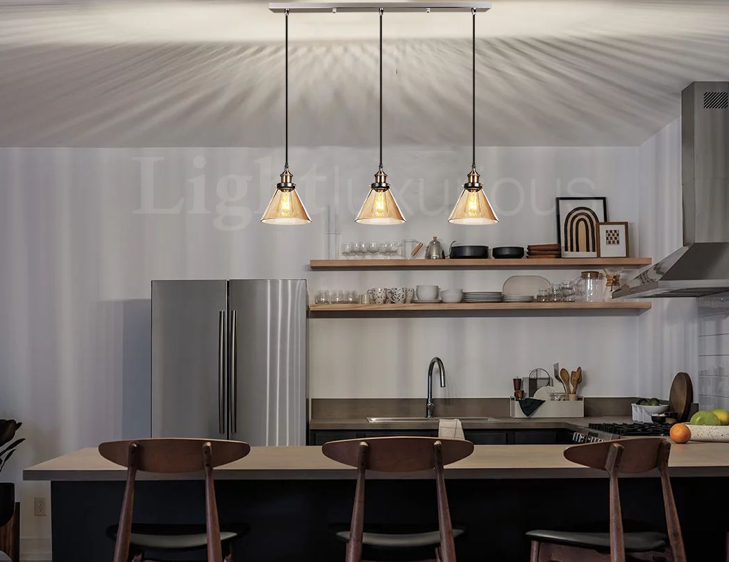 Details About Pendant Ceiling Light Lamp Shade Retro Style Lampshade  Chandelier Lights Kitchen With Akash Industrial Vintage 1 Light Geometric Pendants (Photo 19 of 30)