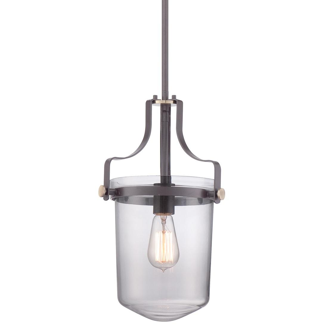 Details About Quoizel Upps1510Wt Penn Station 1 Light Mini Pendant With Vintage Edison Bulb Inside Vintage Edison 1 Light Bowl Pendants (Gallery 27 of 30)