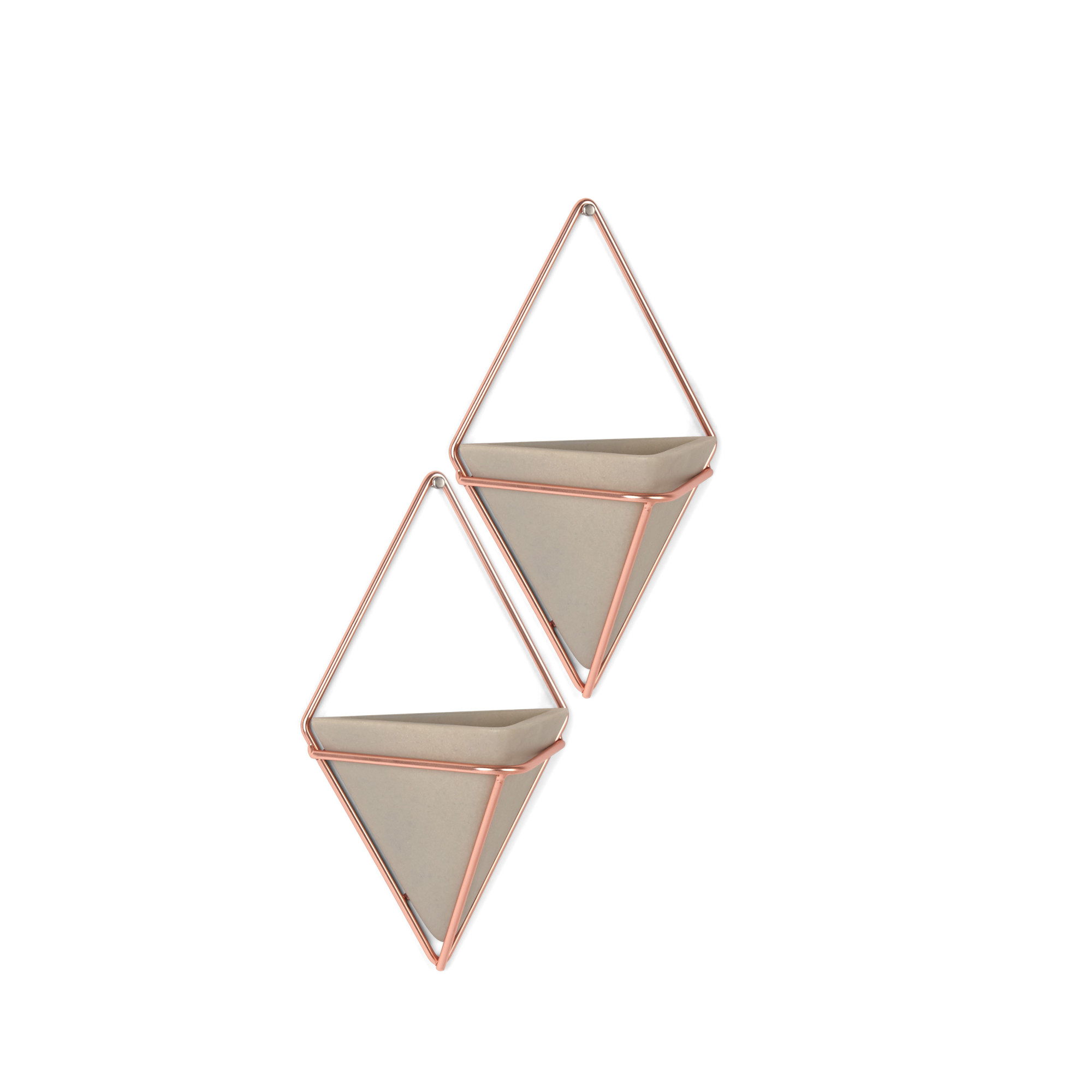 Details About Umbra 470753 Trigg Two Piece Concrete Wall Mounted Planter Set With Metal Frame With Regard To 2 Piece Trigg Wall Decor Sets (Set Of 2) (Gallery 6 of 30)
