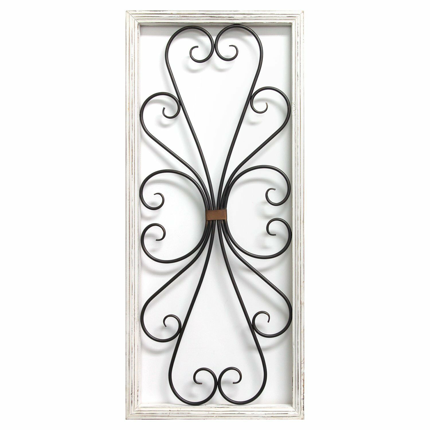 Details About White And Black Scroll Panel Hanging Interior Wall Art Home  Decor intended for Scroll Panel Wall Decor (Image 9 of 30)