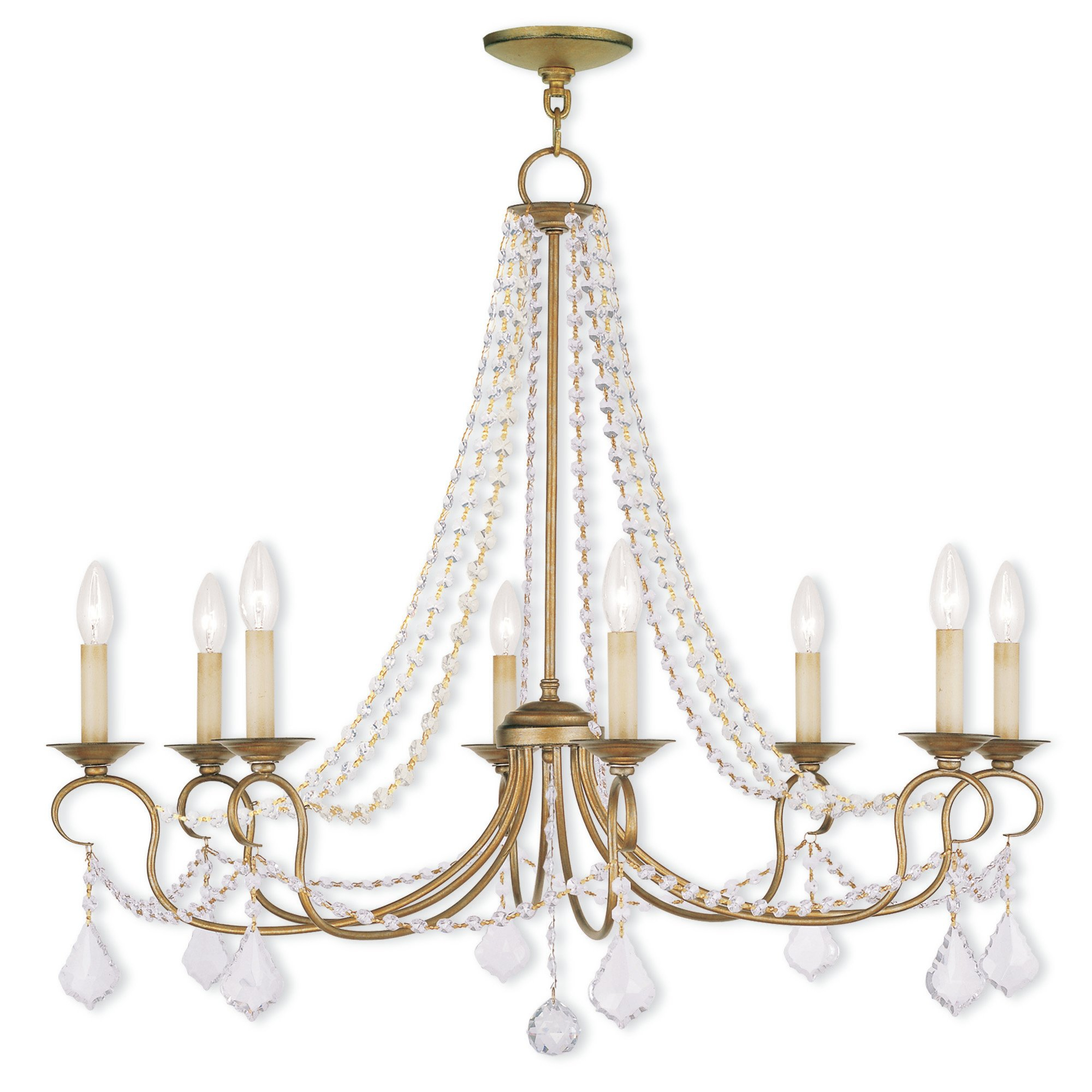 Devana 8 Light Chandelier In Bouchette Traditional 6 Light Candle Style Chandeliers (Gallery 28 of 30)
