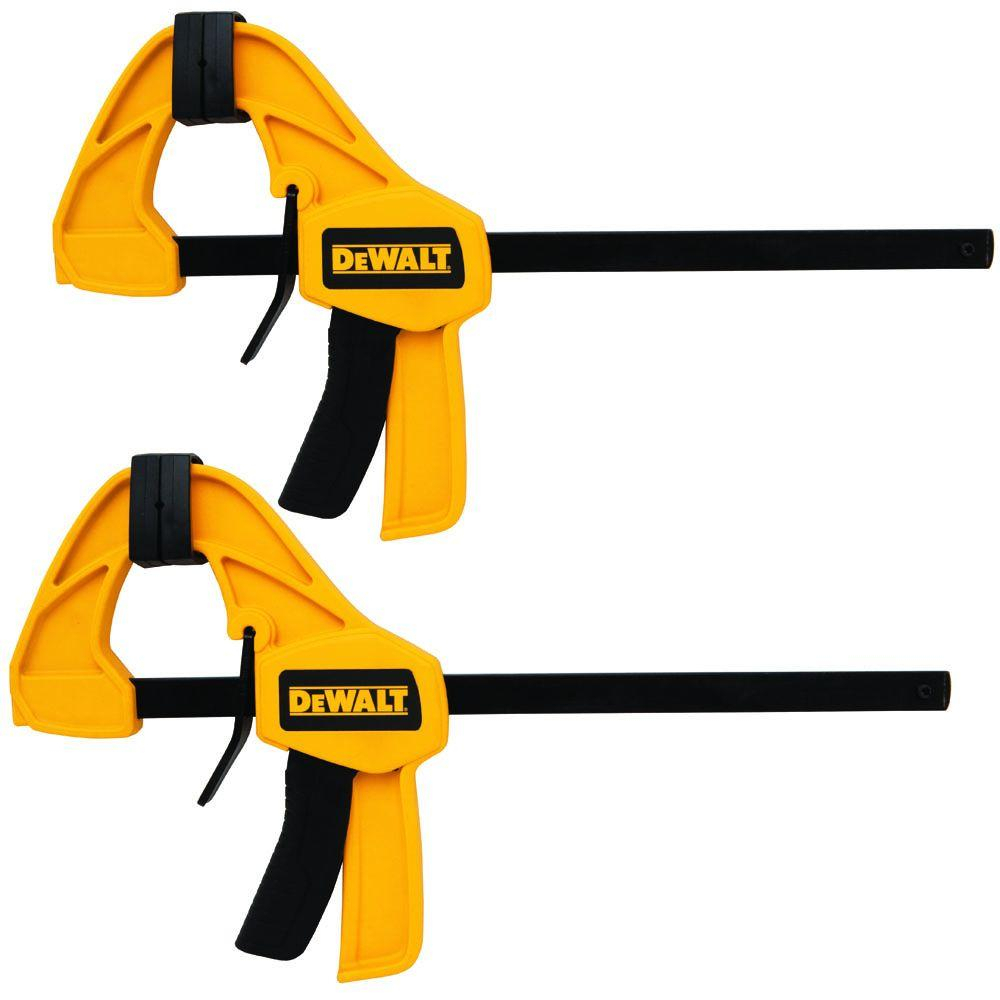 Dewalt 12 In. Medium Trigger Bar Clamp (2 Pack) Within 2 Piece Trigg Wall Decor Sets (Set Of 2) (Gallery 16 of 30)